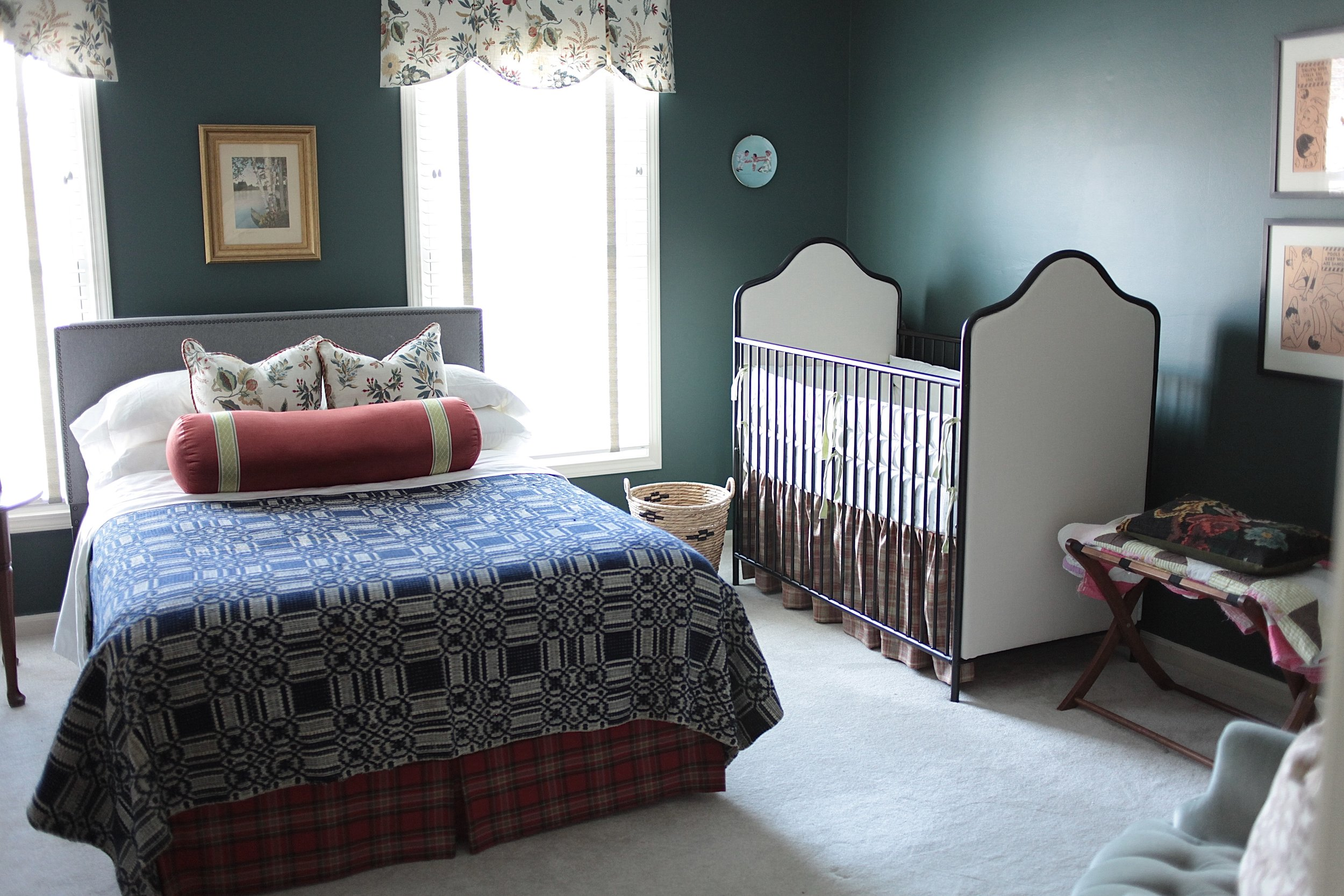 Goodwin Green paint in bedroom and nursery