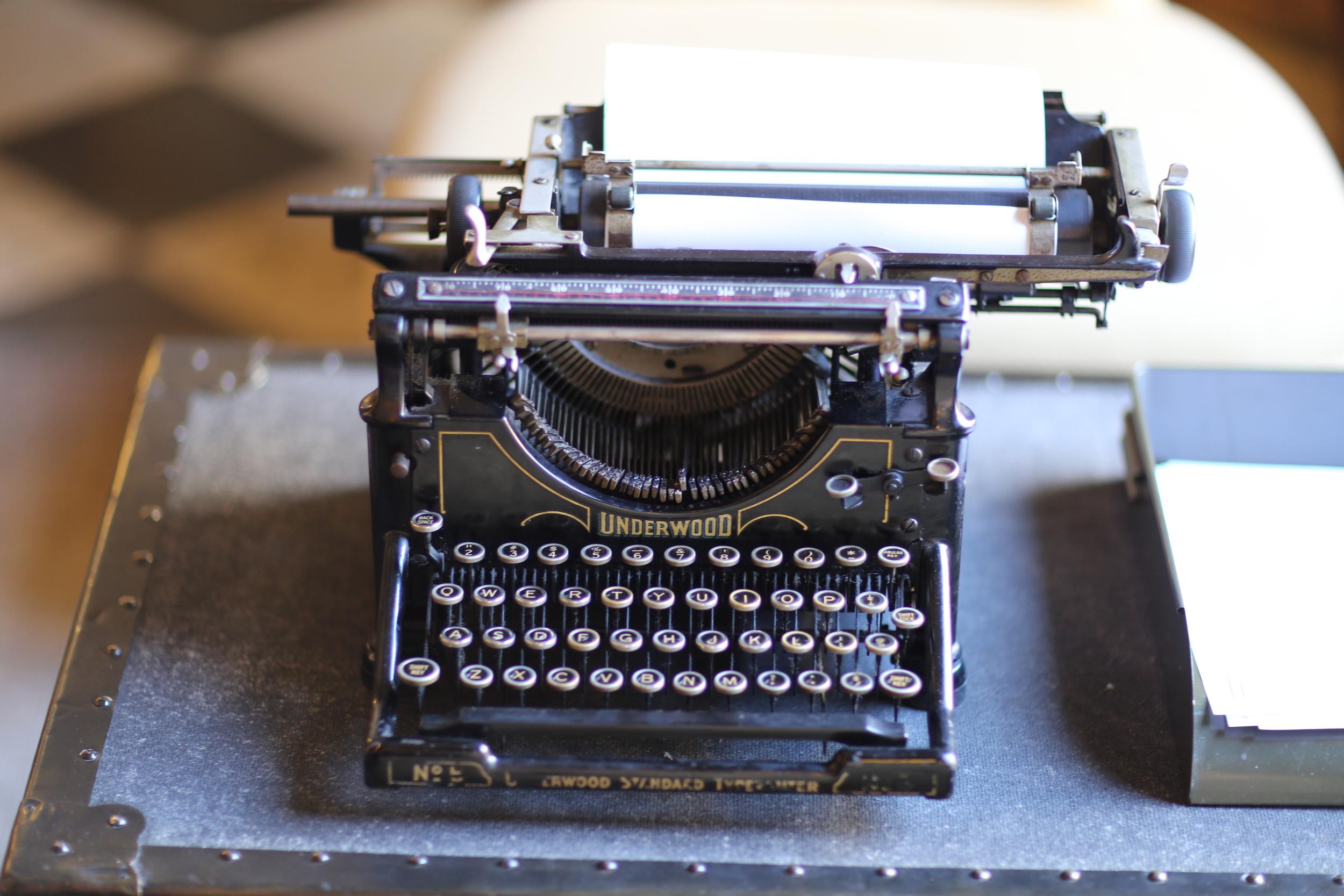 Typewriter in the Hotel Normandie