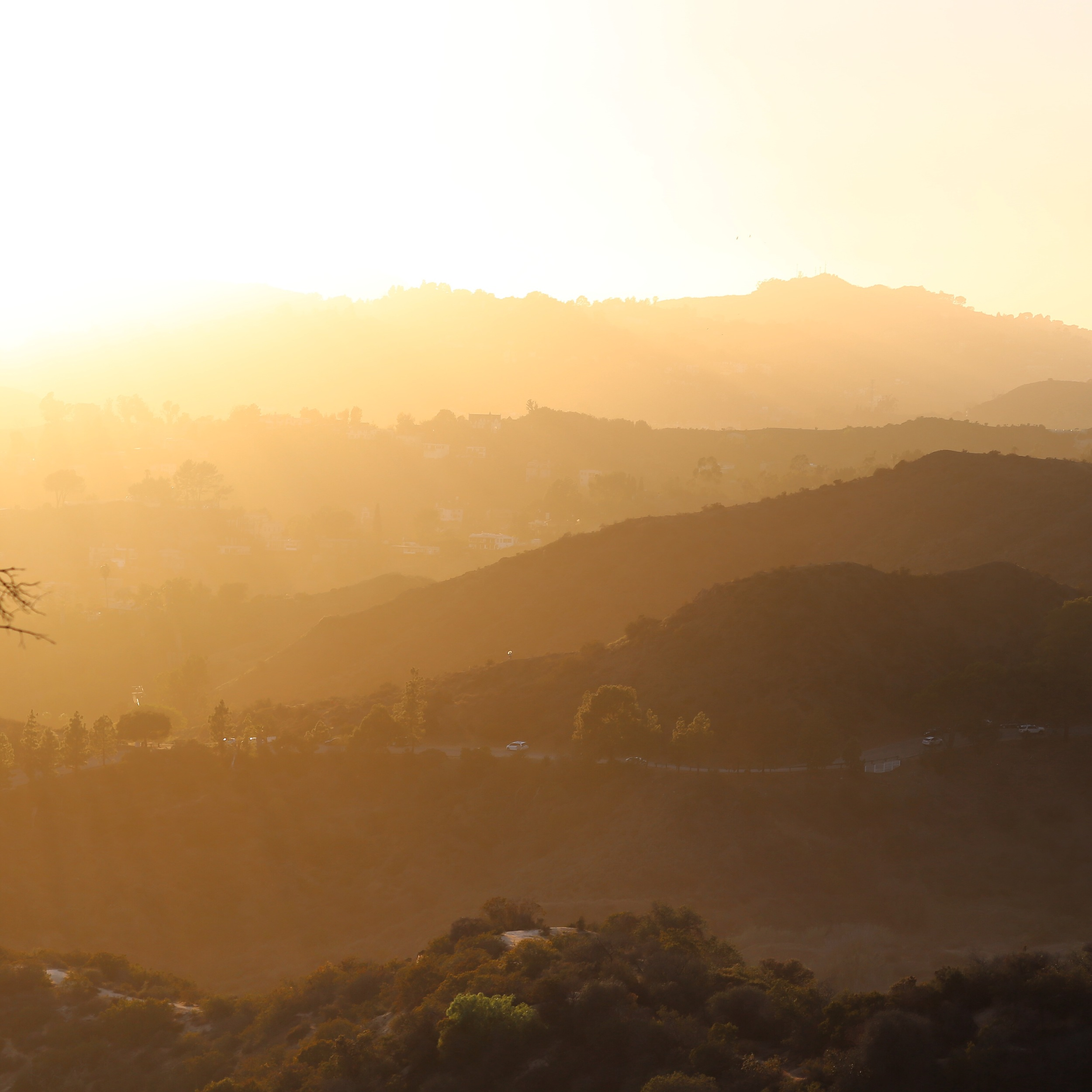 Hollywood Hills at Sunset