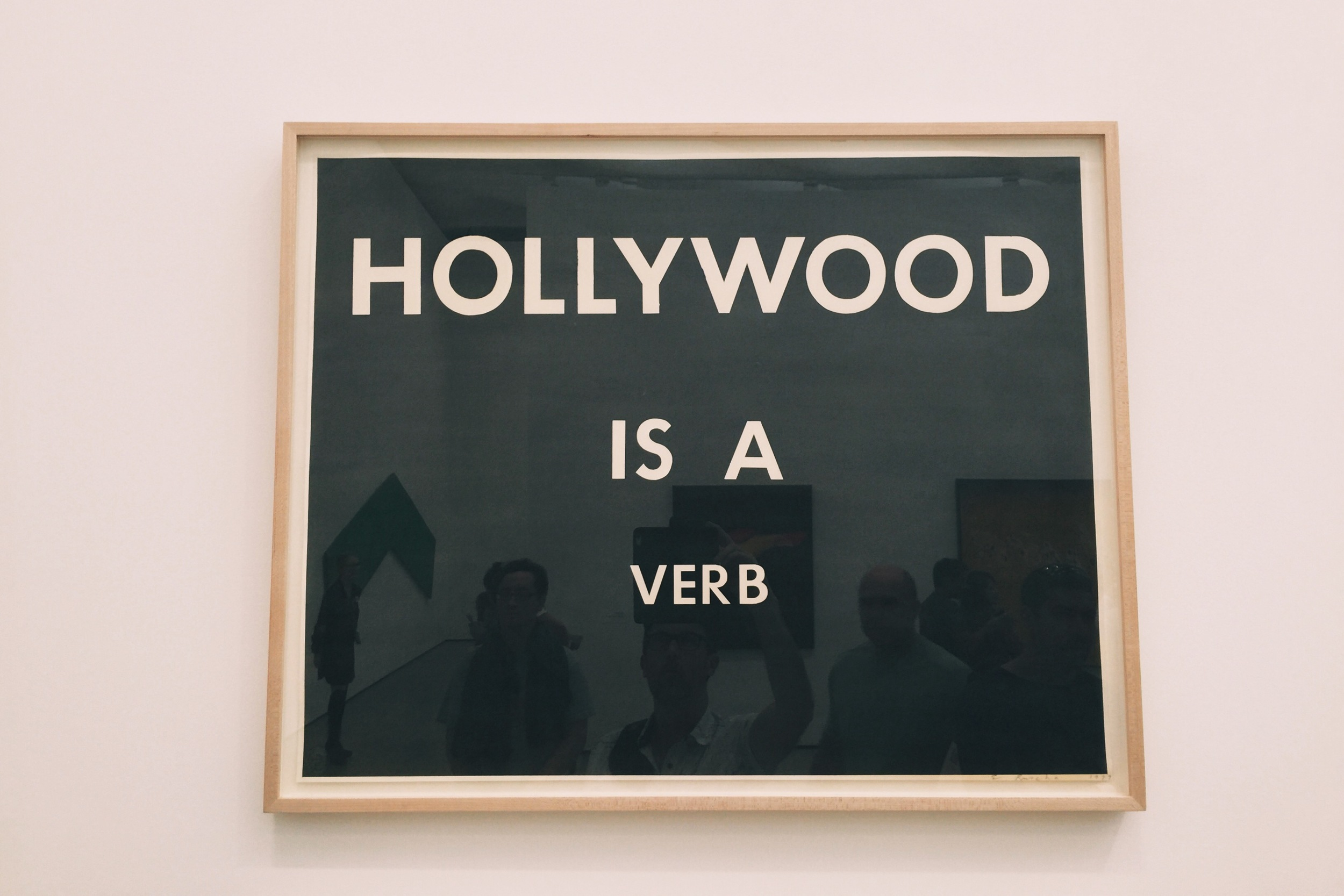 """""""Hollywood is a Verb"""" by Ed Ruscha"""