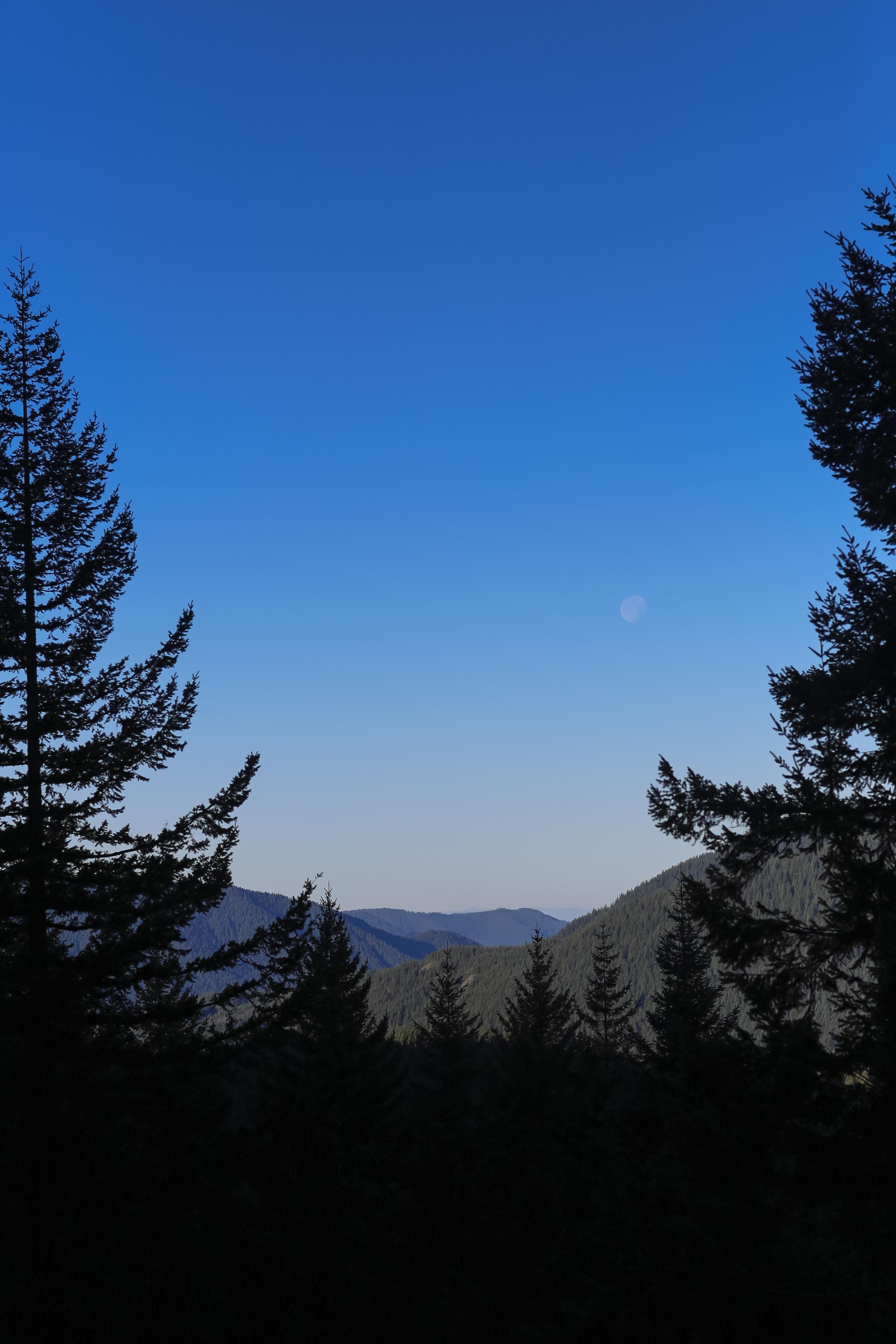 Moon above Zigzag Valley