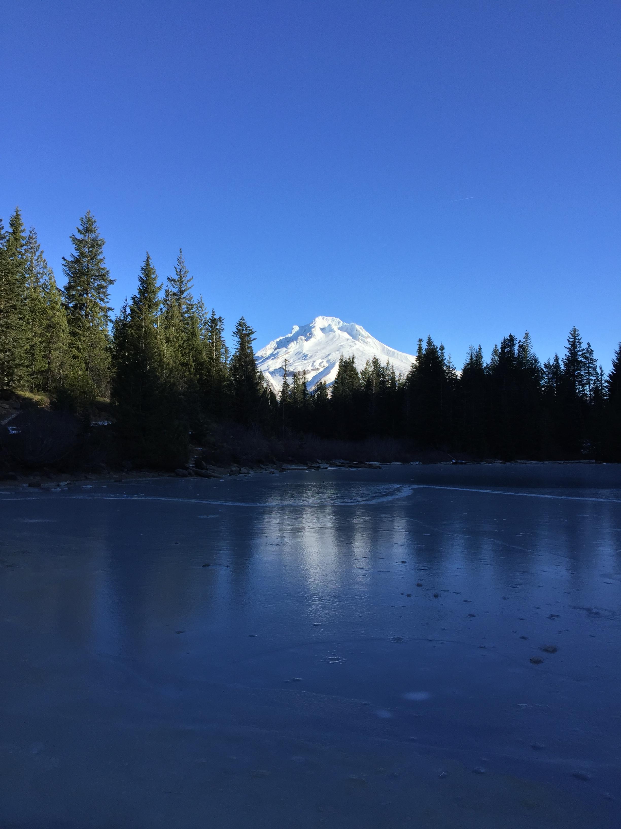 Hood above Mirror Lake