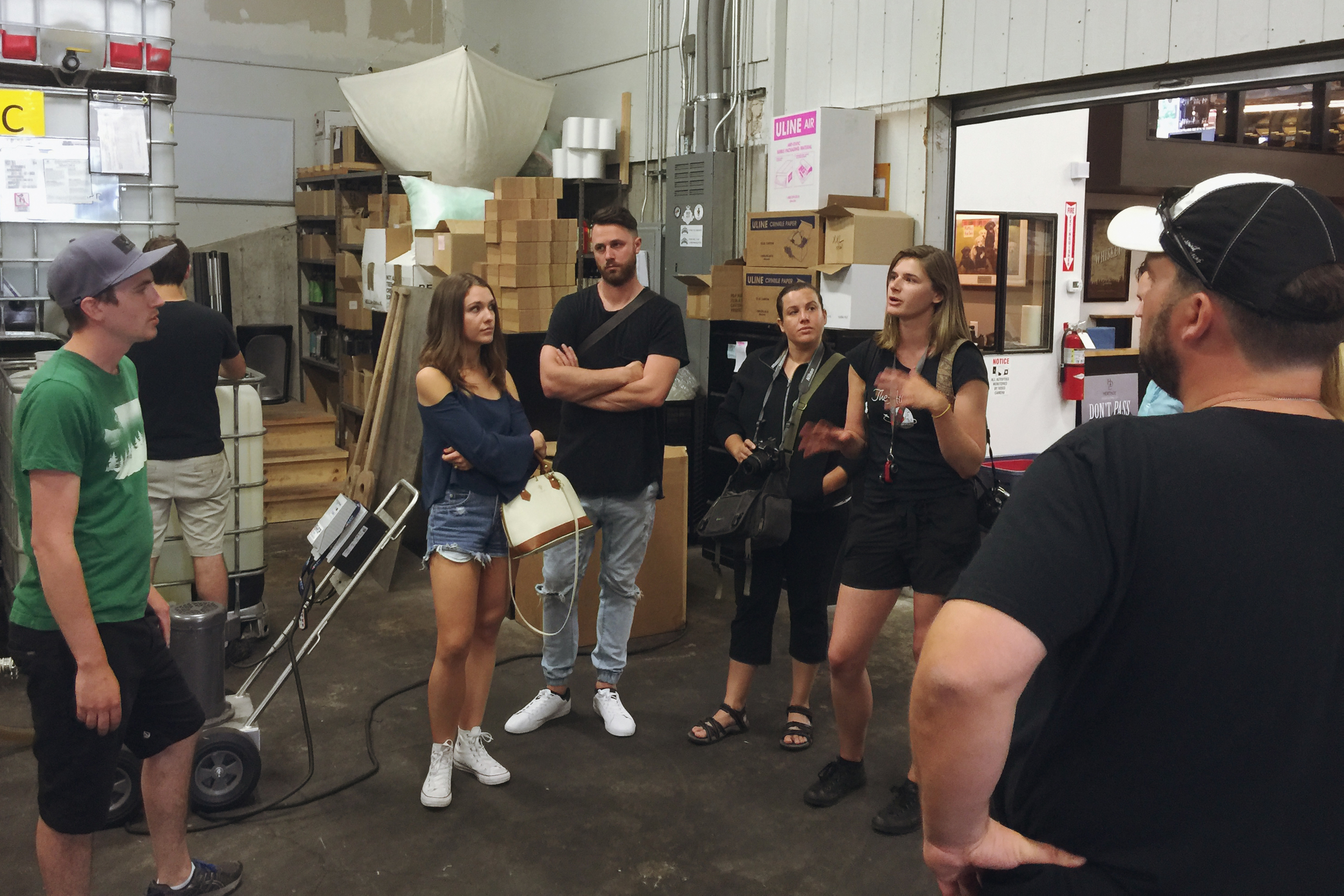 Q&A with Stiefel and other staff on our tour