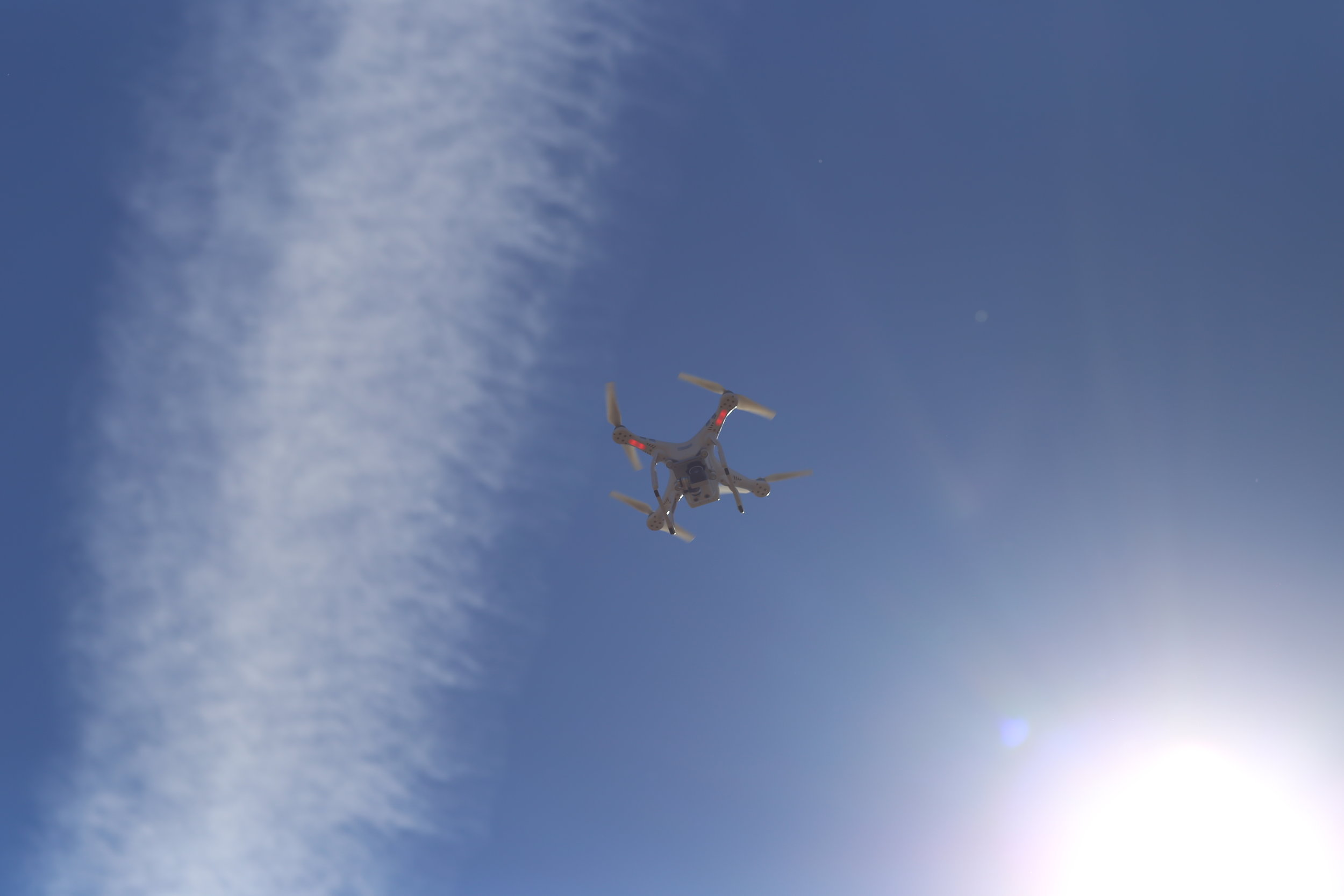 David Merrick's drone goes a-flyin'