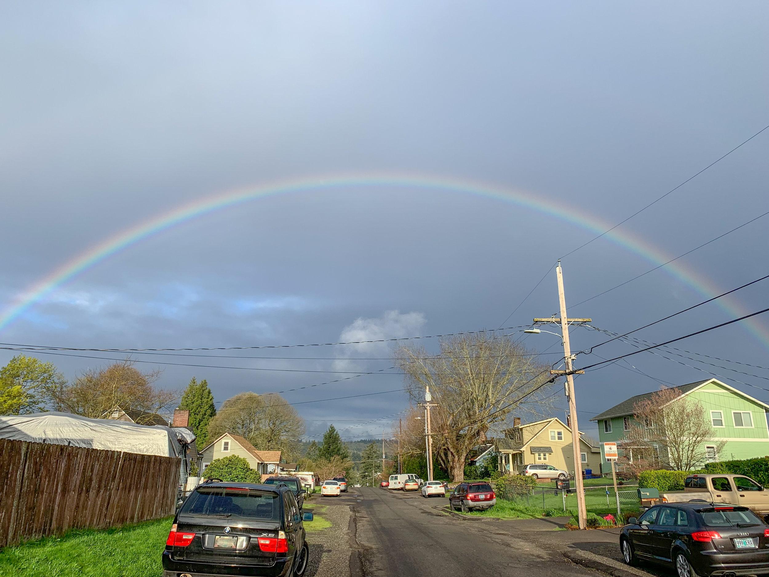 Rainbow on the drive