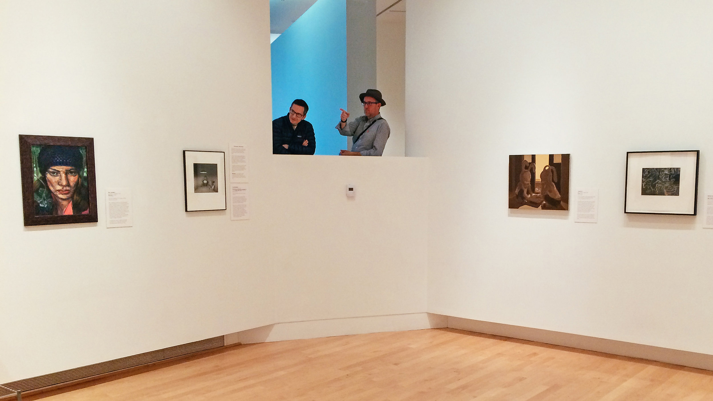 Matt and I admiring and imitating art in TAM's Russell Gallery (photo by Elaine)