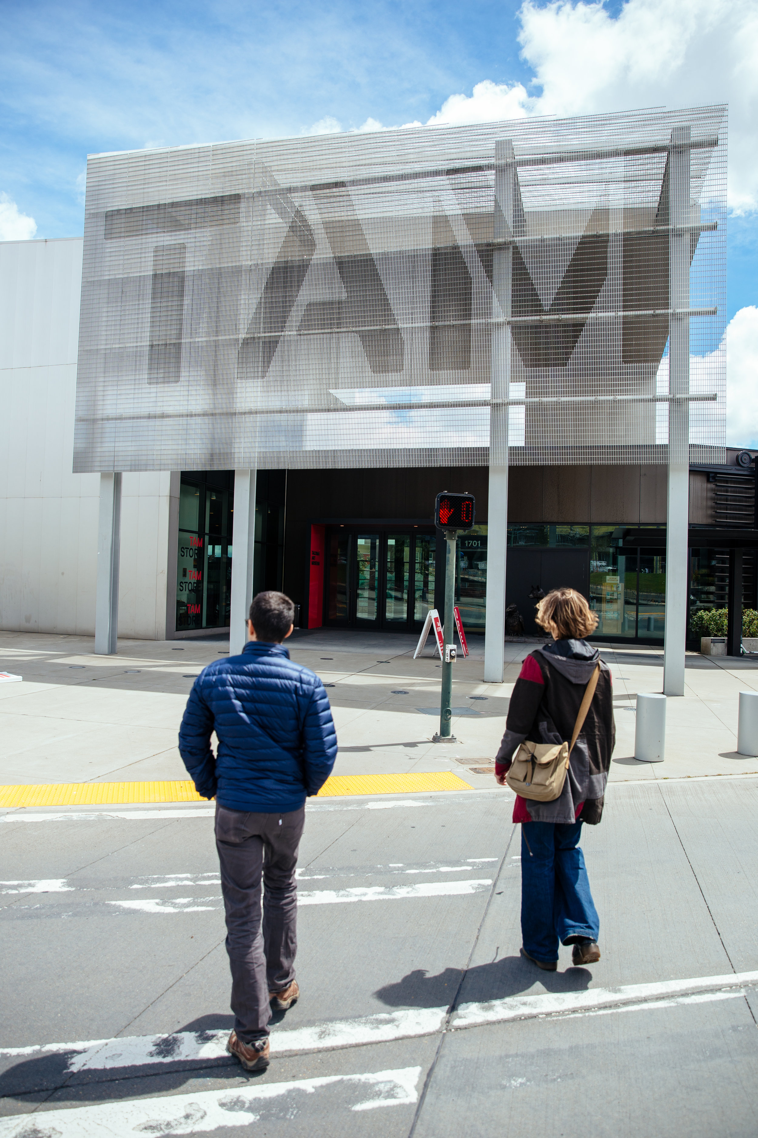 Matt and Elaine walking to the Tacoma Art Museum (TAM)