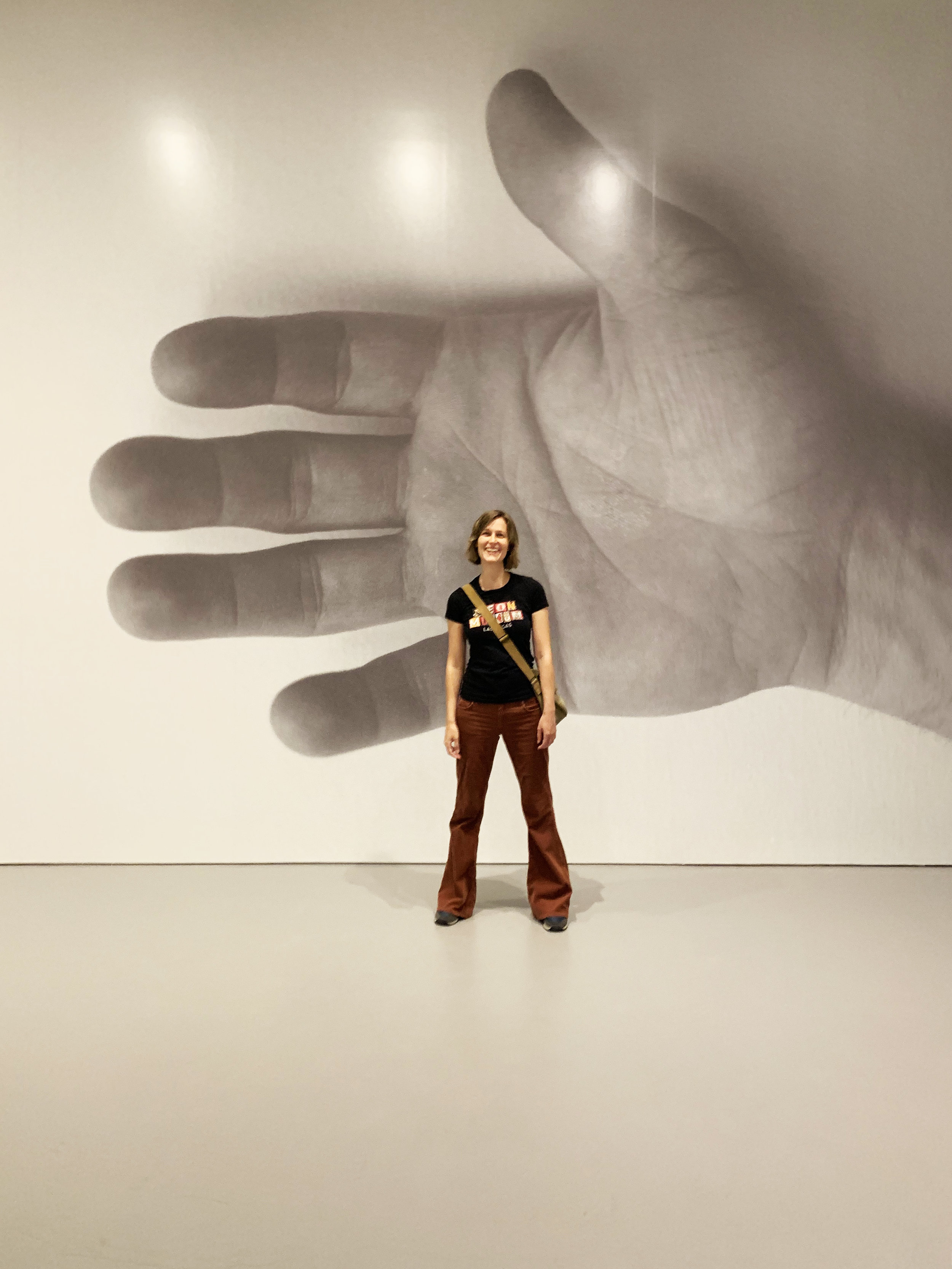 Elaine in the Hirshhorn Museum