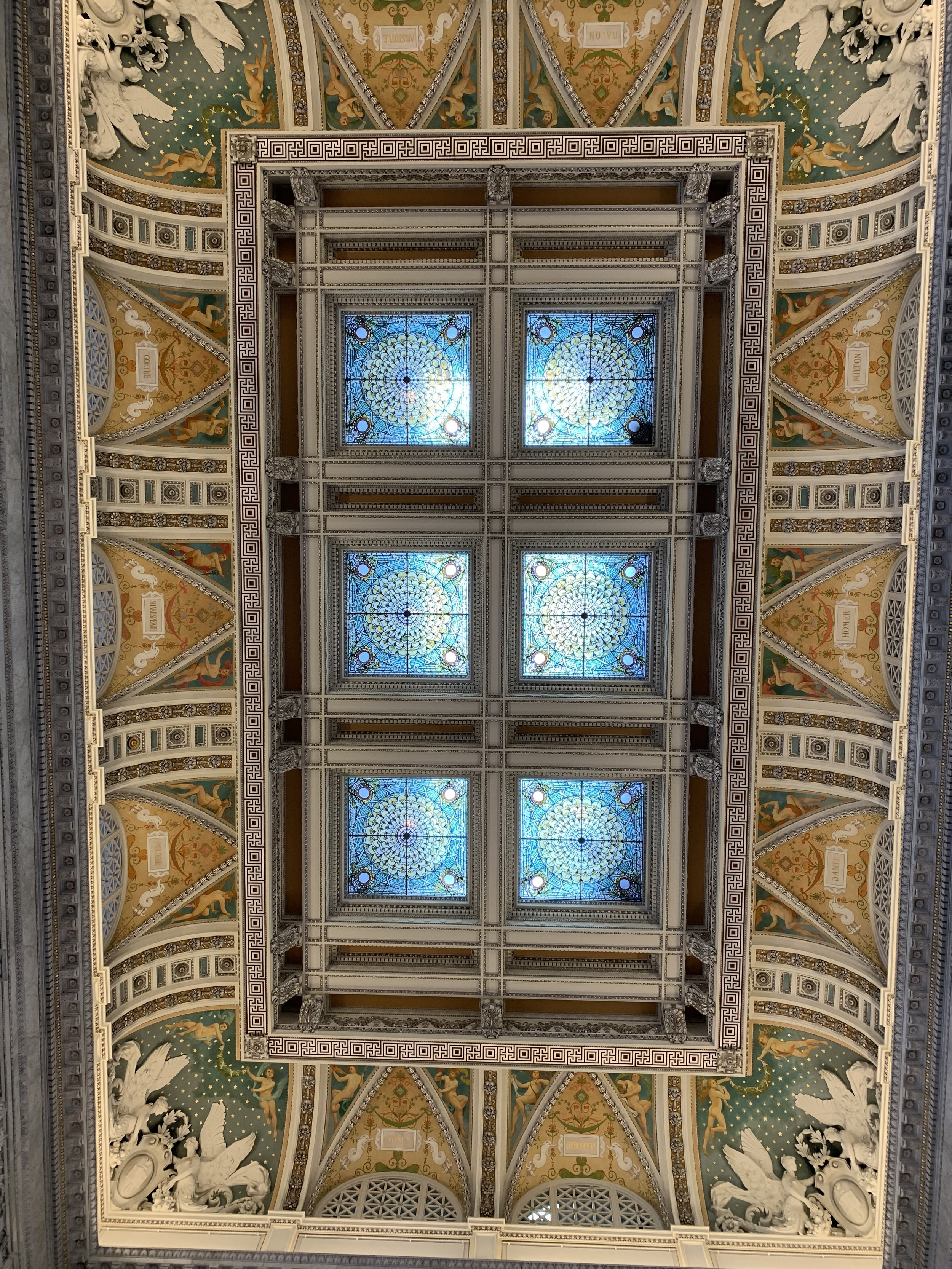 Beautiful ceiling in the Library of Congress