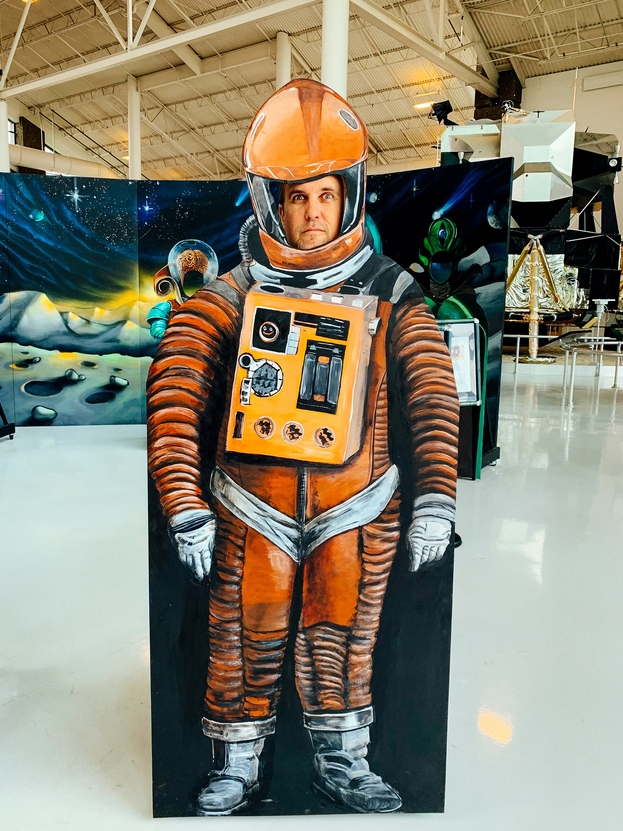 """""""Open the pod bay doors, Hal."""" -- Me in a 2001: A Space Odyssey cutout"""