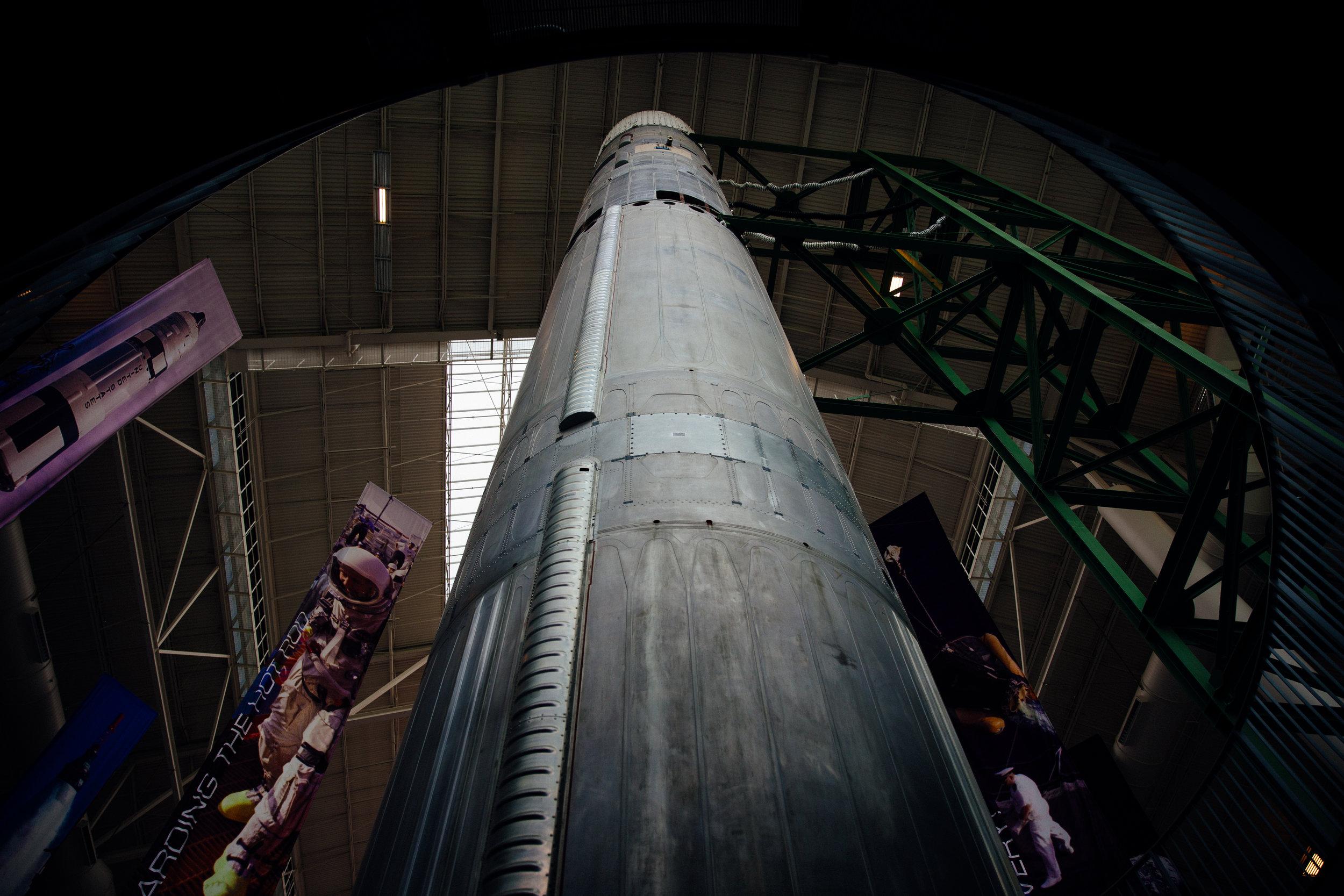 Titan II rocket in its silo