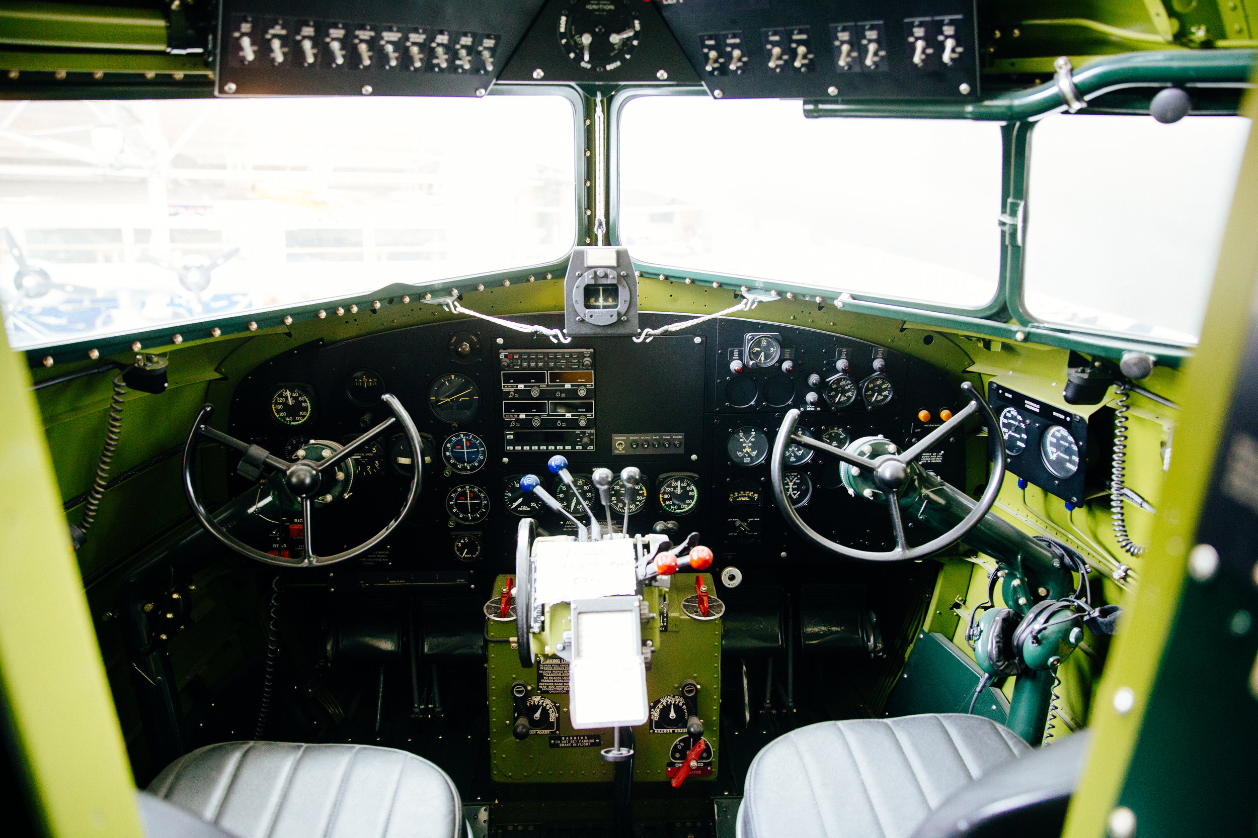 "DC-3A ""Reno"" Mainliner cockpit"