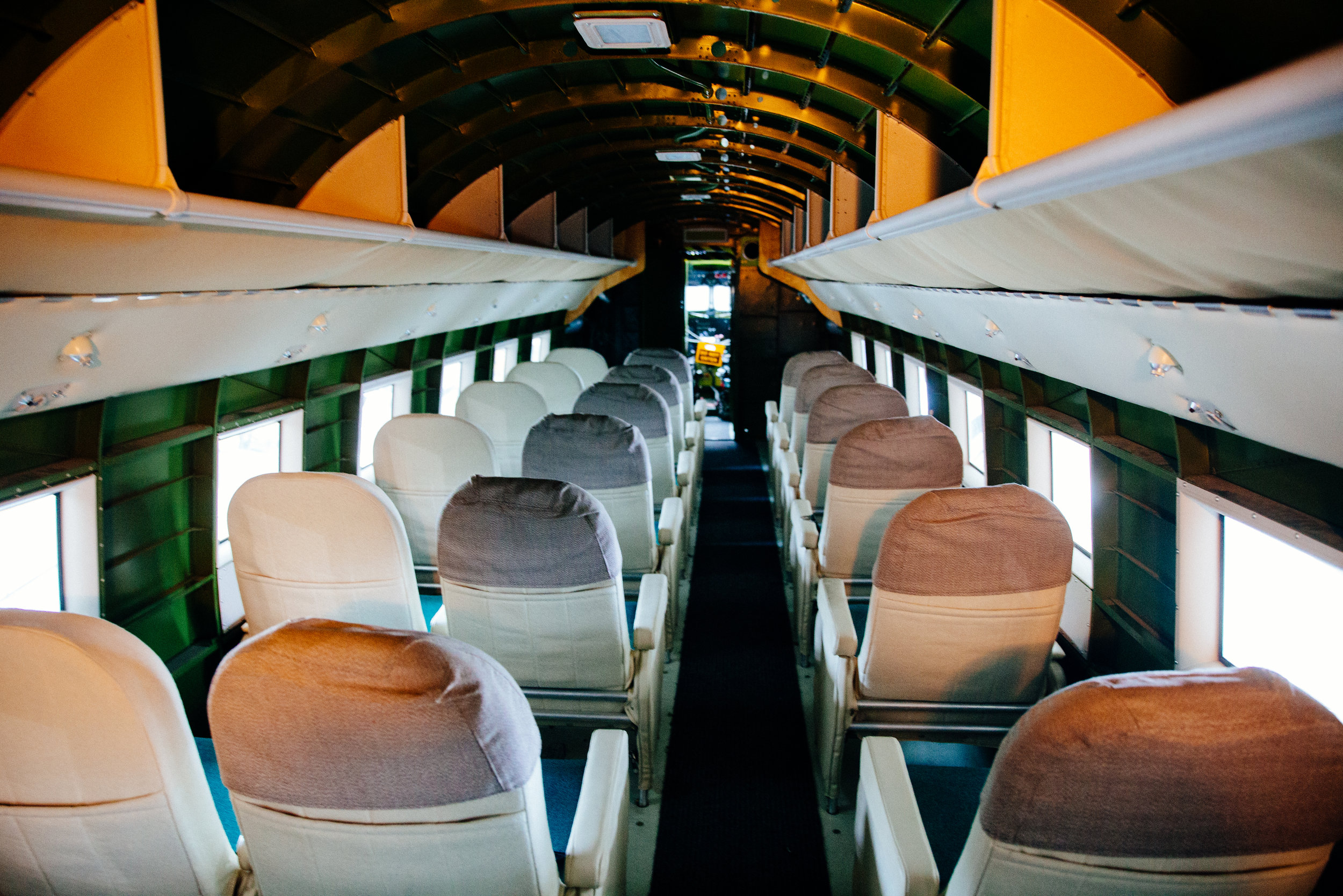 """Inside the DC-3A """"Reno"""" Mainliner"""