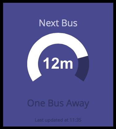 """The """"Next Bus"""" widget"""
