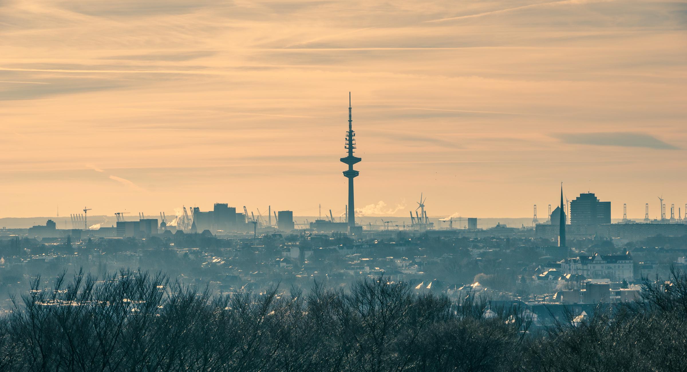 Hamburg, Blick vom Planetarium