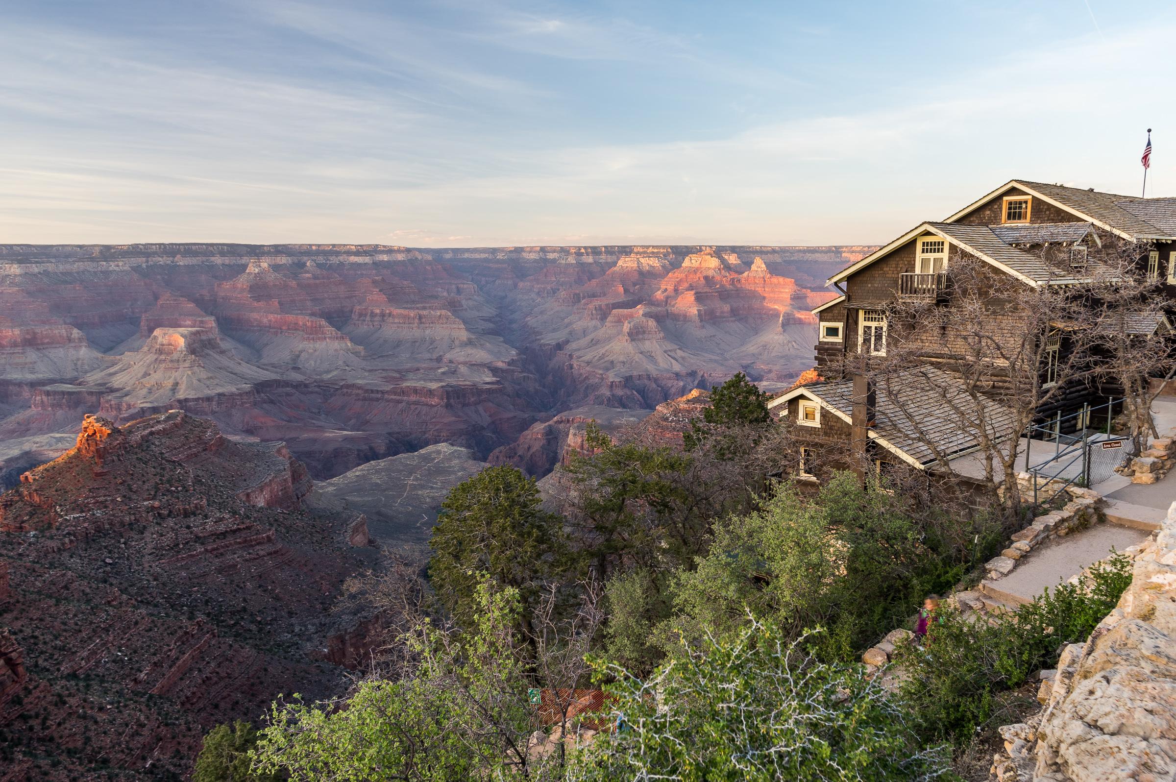 Das Kolb Studio über den Tiefen des Grand Canyons.