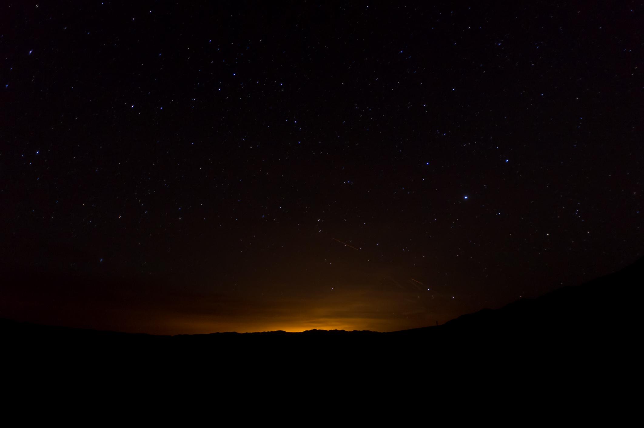 Ich hatte mich leider im Vorfeld nicht mit der Fotografie von Sternen beschäftigt und bitte daher das Foto zu entschuldigen.