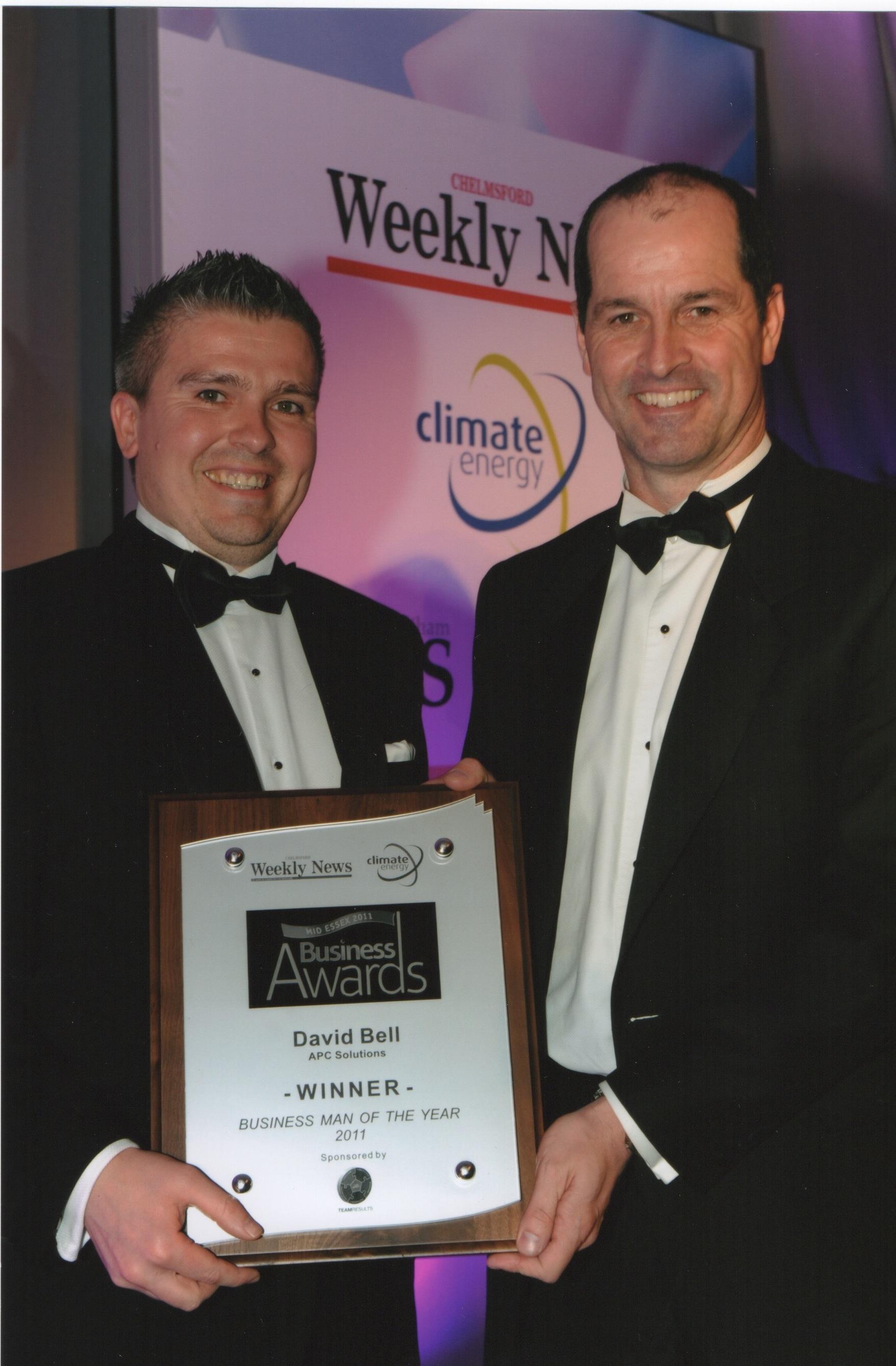 David Bell Winner of Essex Businessman 2011
