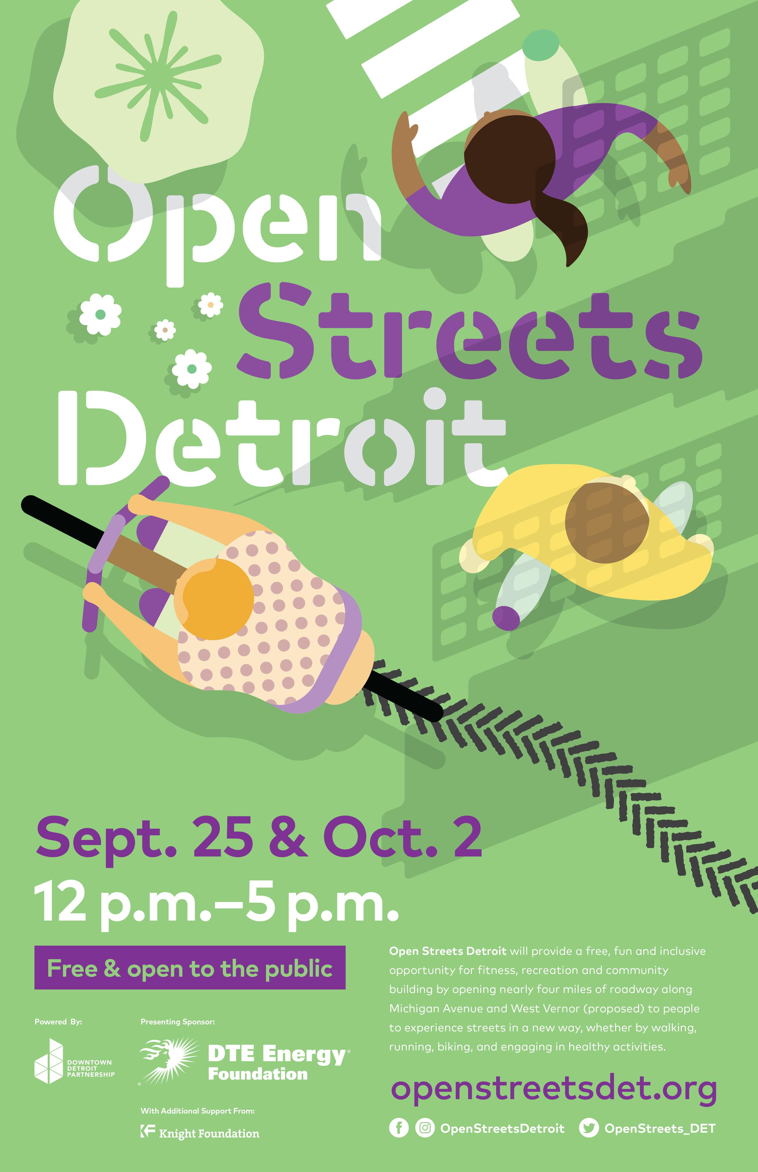 Open Streets Detroit Poster