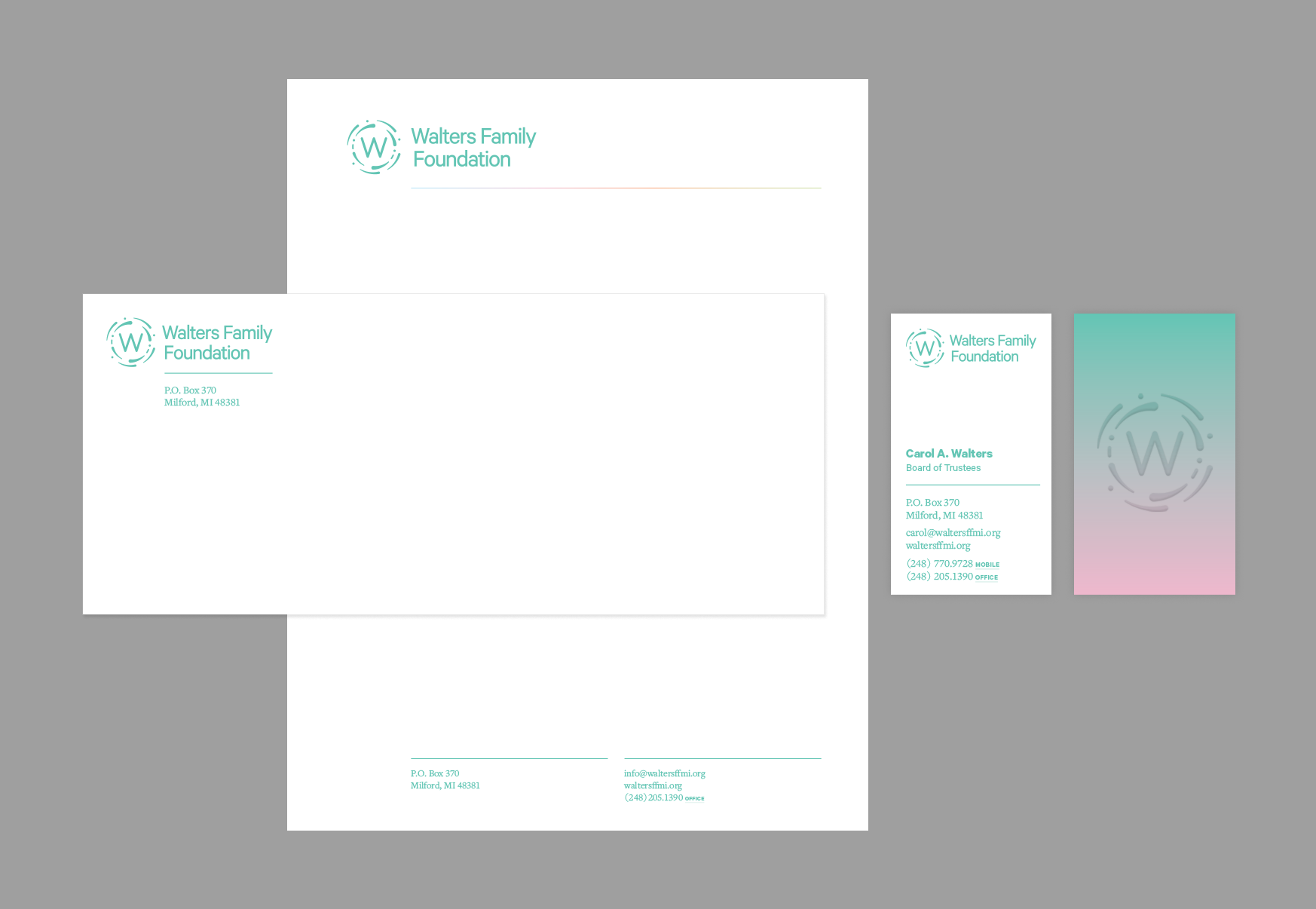 Print matter (letterhead, envelopes, business cards)
