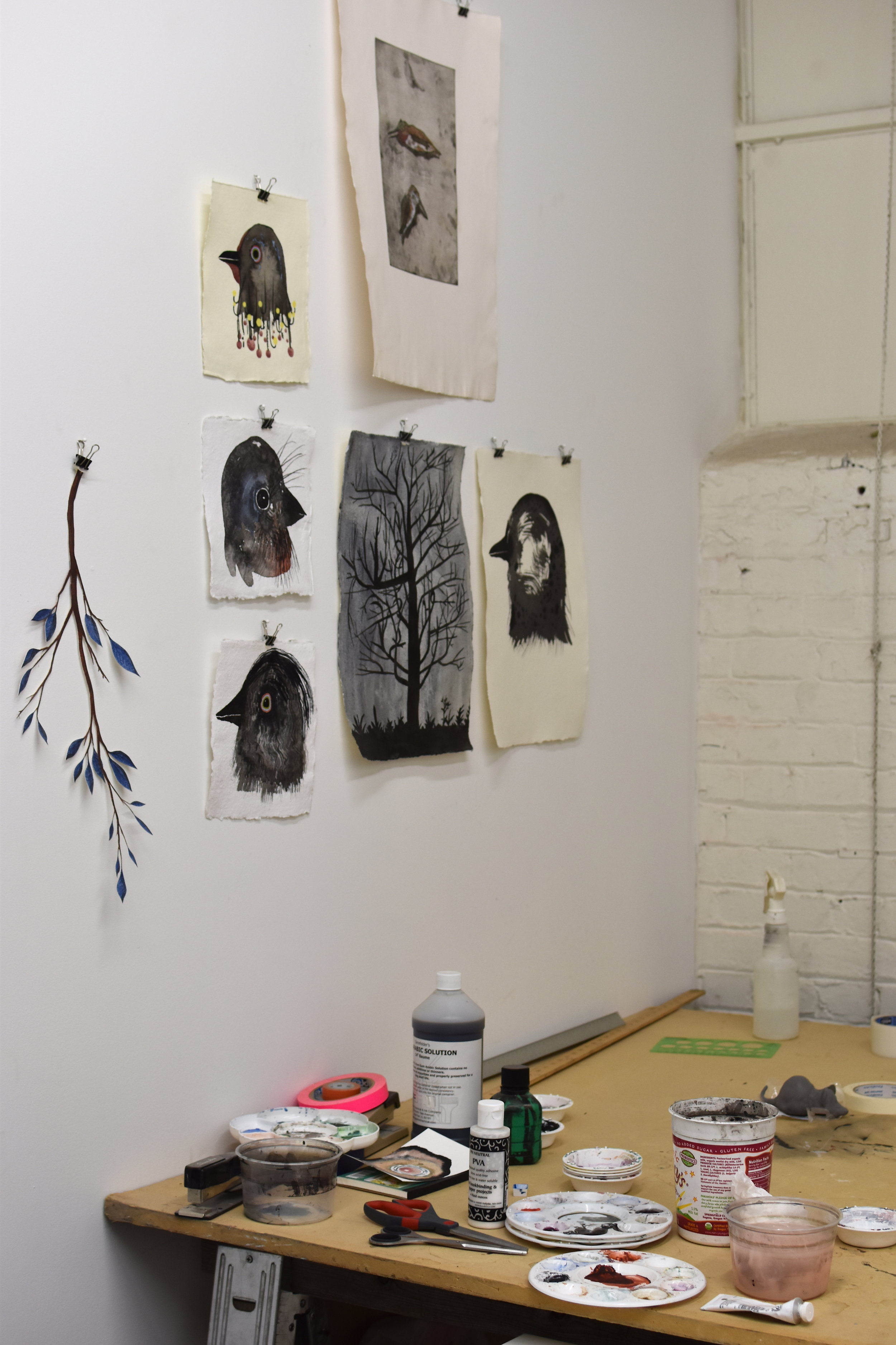 A corner in Justin L'Amie's studio