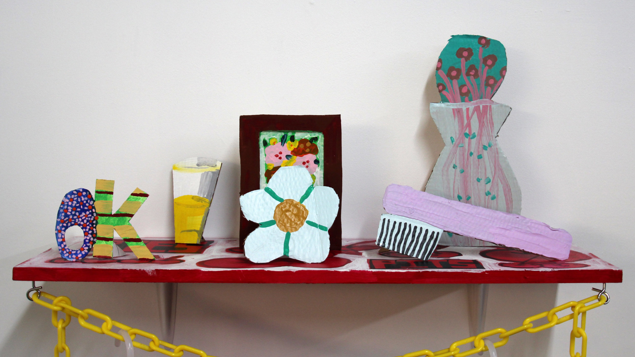 Willy Nilly  new works by Kellen Chasuk and Emma Parry. On view from July 15, 2017 through August 13. Curated by Anastasia Greer.