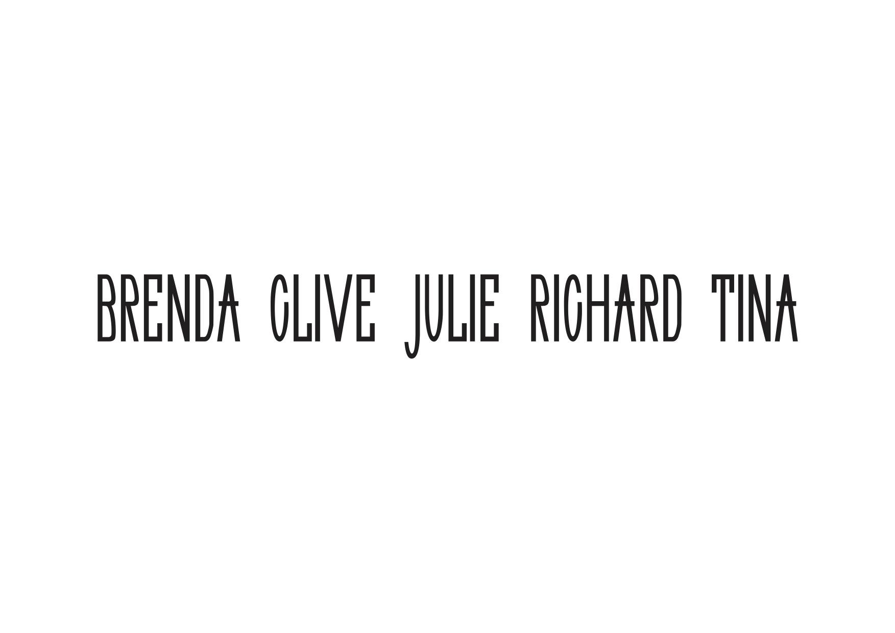 Brenda Whitehill Schlenker, Clive James, Julie Winter, Richard S. Boswell, and Tina Sparkles -