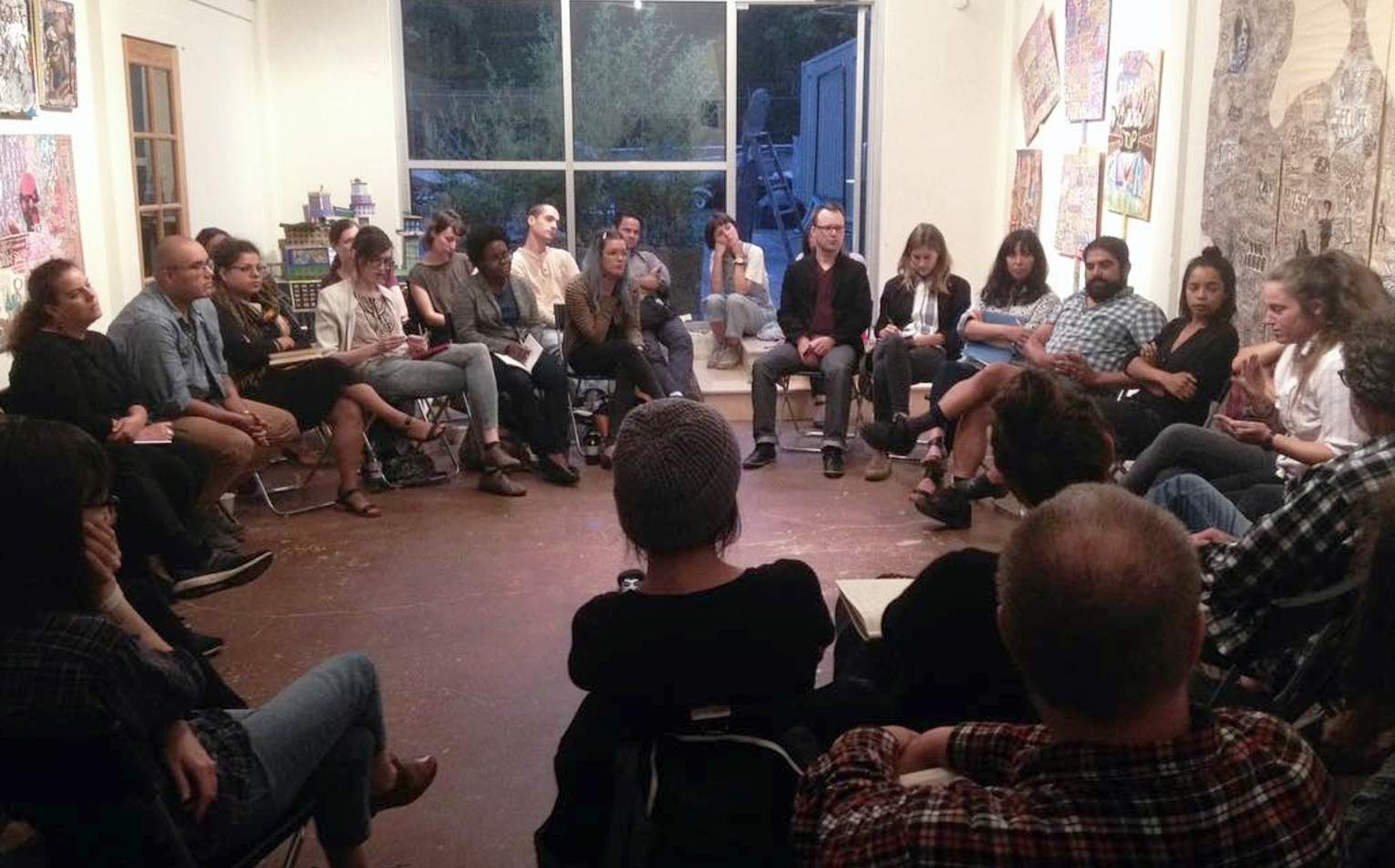 Art and Activism Panel Discussion hosted by Prequel during its 2016 session, the conversation was open to the public.