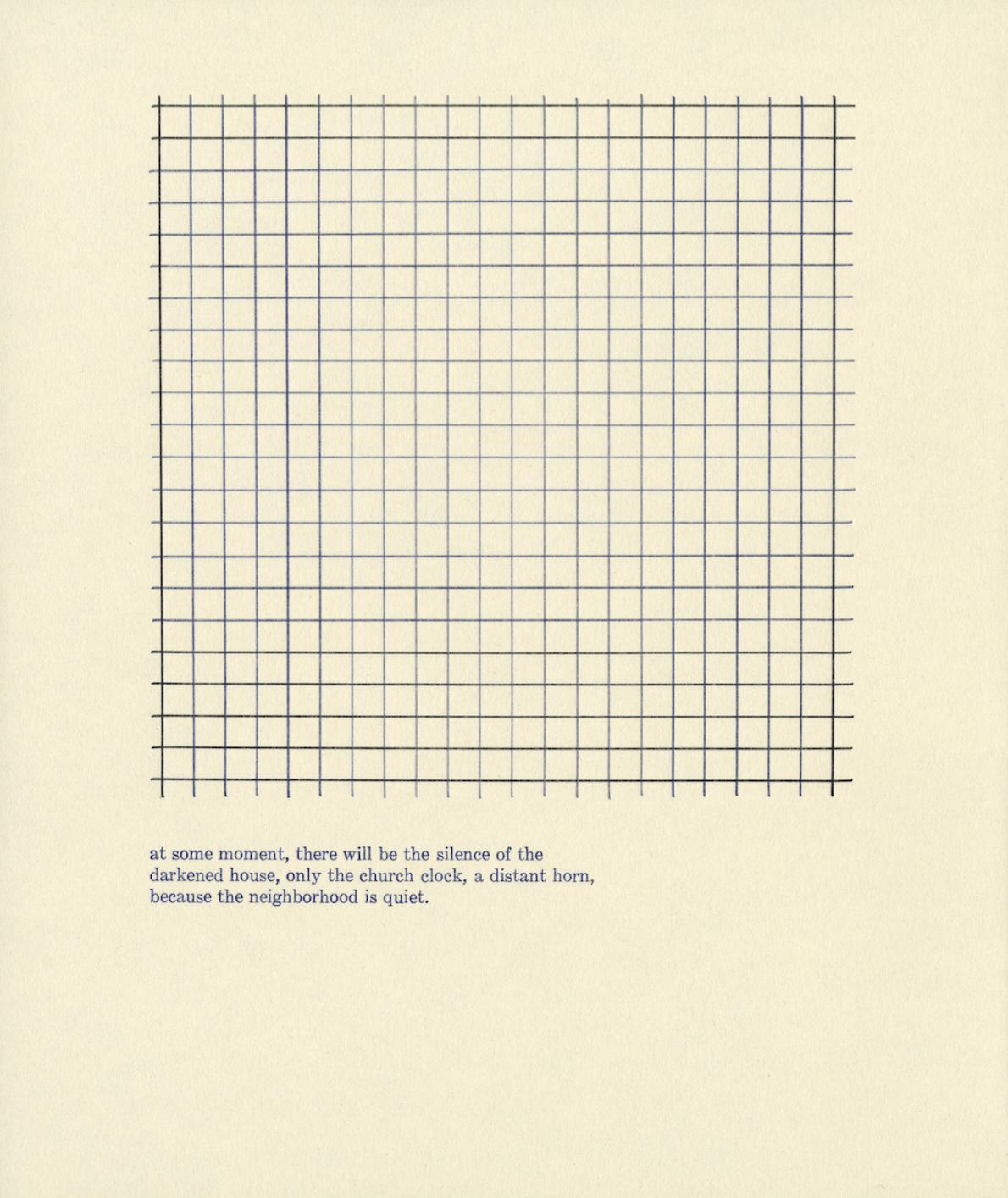 """Sammie Cetta,  (p. 32) the darkened house , print, 8"""" x 9.5"""", 2019"""