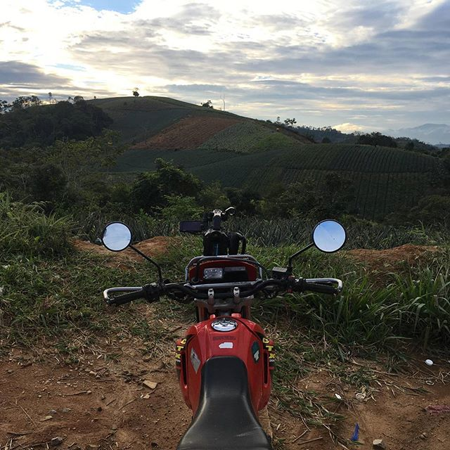 We rented motorcycles to visit farmers deep in the jungle. They also worked as a make shift camera dolly.