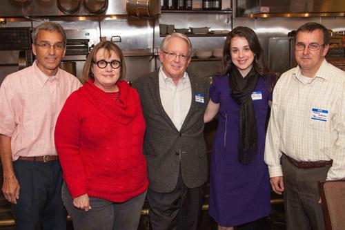 (left to right) Tasos Touloupis, Treasurer; Becky Satterfield, Secretary; Bruce Hooper, Executive Director, Camp Smile-A-Mile; Savannah Lanier, Development Director, Camp Smile-A-Mile; Antony Osborne, President
