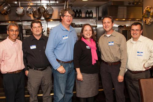 (left to right) Tasos Touloupis, Treasurer; Jerry Hartley, Vice President; Nick Hartmann, Community Representative; Amanda Storey, Director, United Way of Central Alabama; Scott Jones, Executive Coordinator 2012; Antony Osborne, President