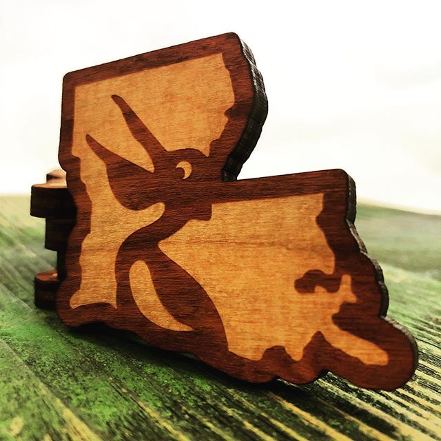 "IT'S GIVEAWAY TIME! Tag two friends in the comments below for a chance to win one of five 2.5 inch Pelican Parish wooden ""tokens"" – winners will be chosen at random and notified on Monday, August 12, at noon CST. Get to posting, y'all!"