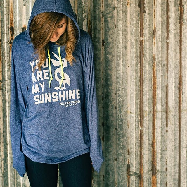 "A little #throwbackthursday to the early PPSC days and our popular ""Sunshine"" hoodie t-shirt. As Fall ever-so-slowly approaches, we'll be dropping more cozy apparel for y'all - keep an eye out!"