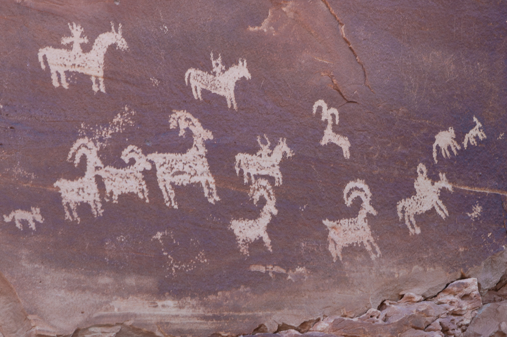 Ute period (1200s to 1880s) art - Arches National Park
