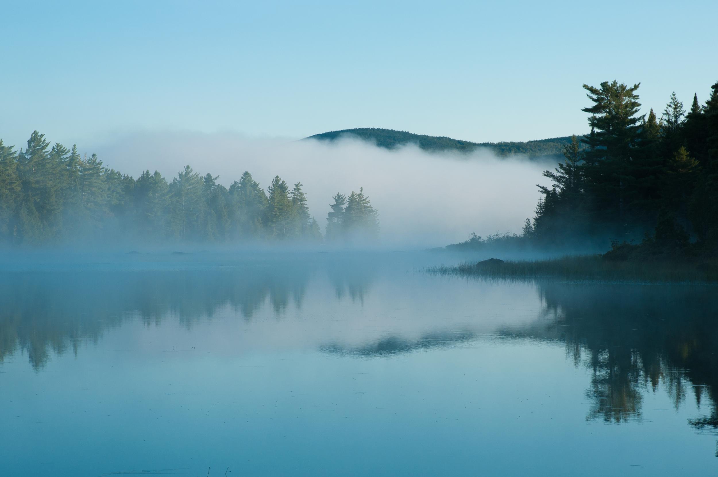White Cap in the Clouds - Big Lyford Pond, Maine