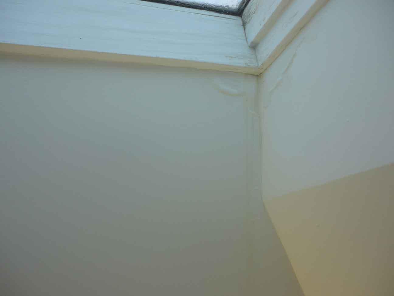 Other two skylights leak inside.