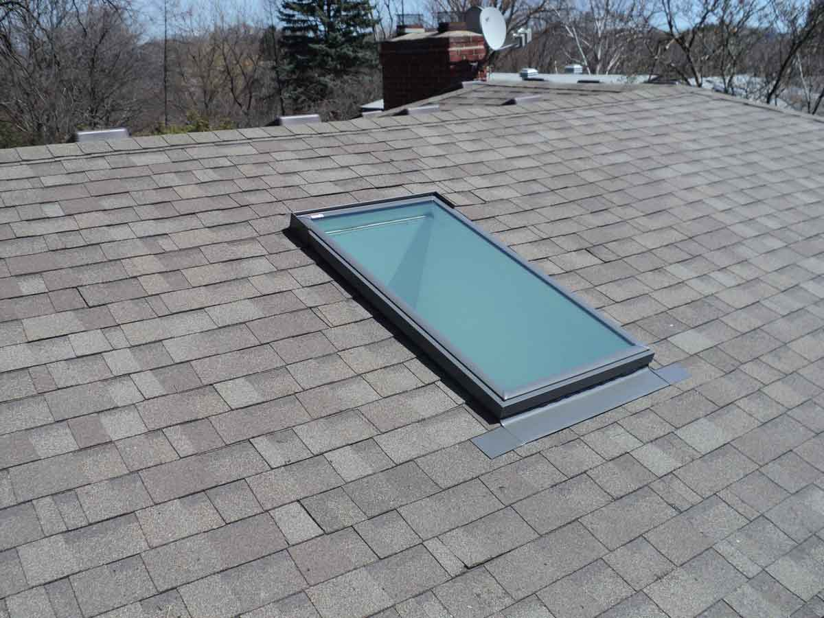 New skylight is in. The other two (not shown) as well. Other tunes ups and repairs done.