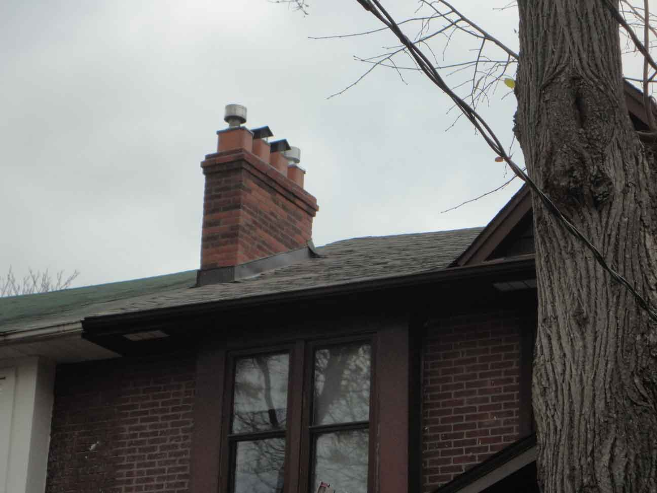 Chimney and clean up almost done.