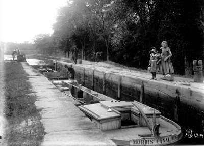 Historic view of Lock 2 East taken in 1904.