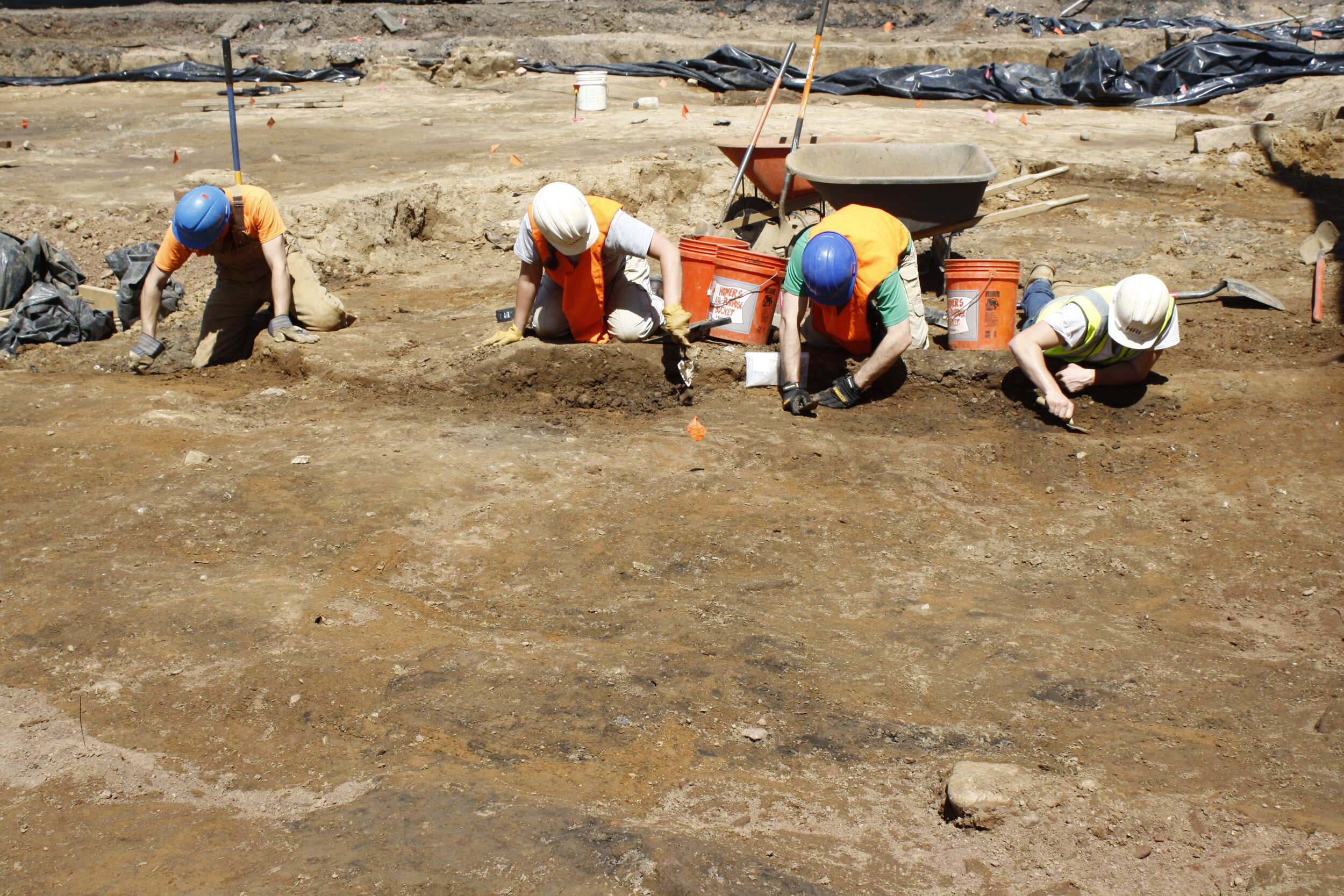 Troweling the cemetery