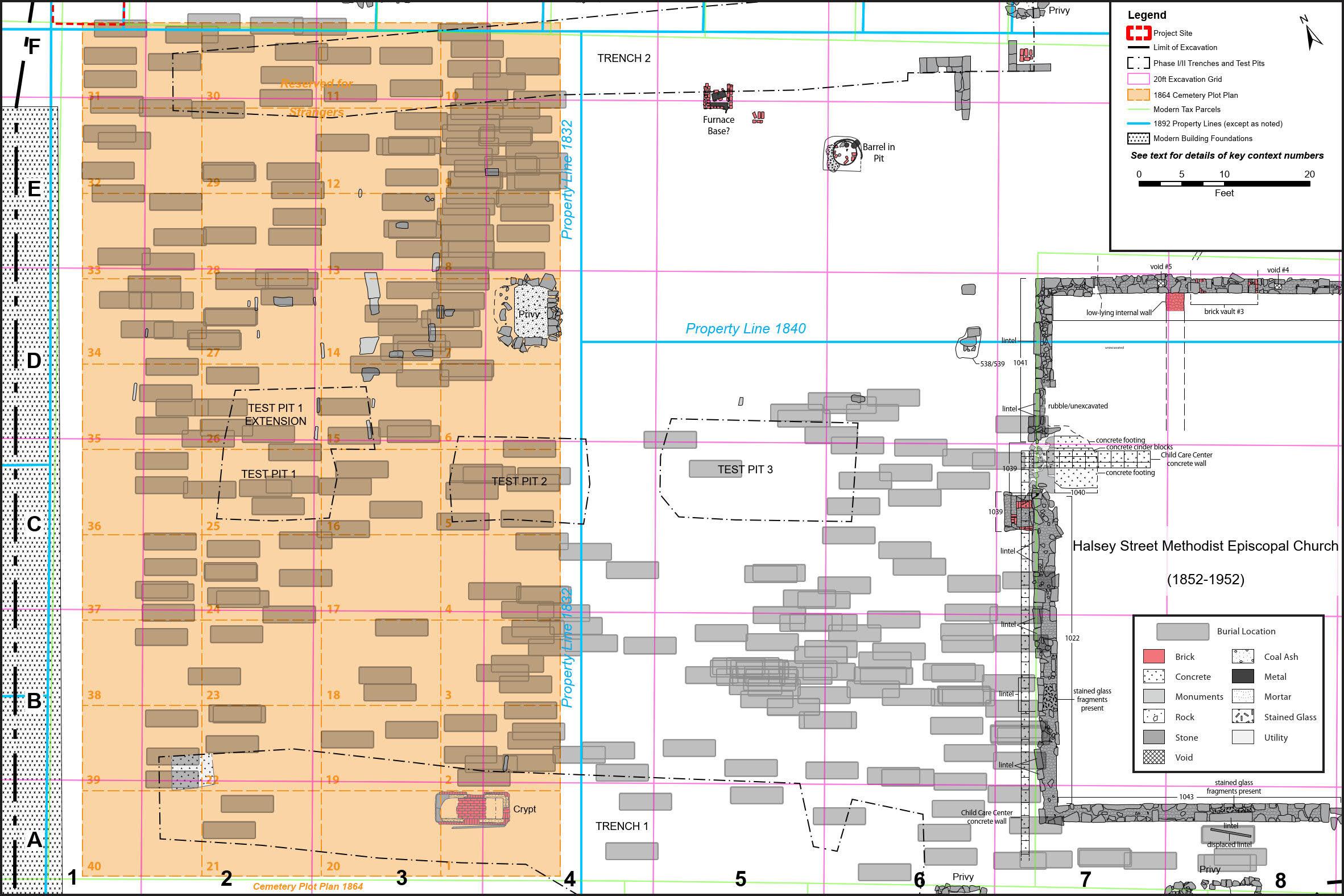 Cemetery excavation plan