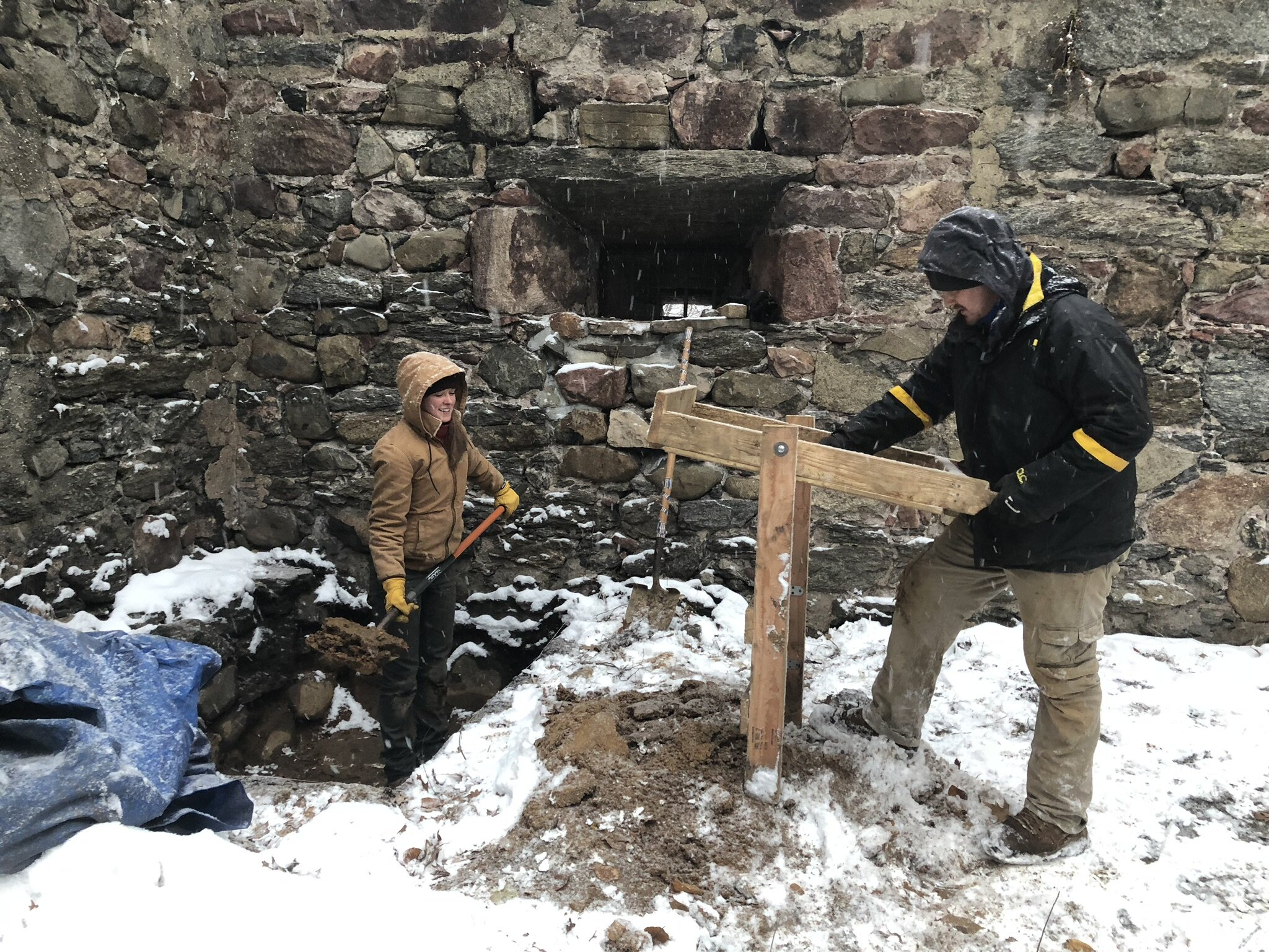 Excavation inside the blockhouse