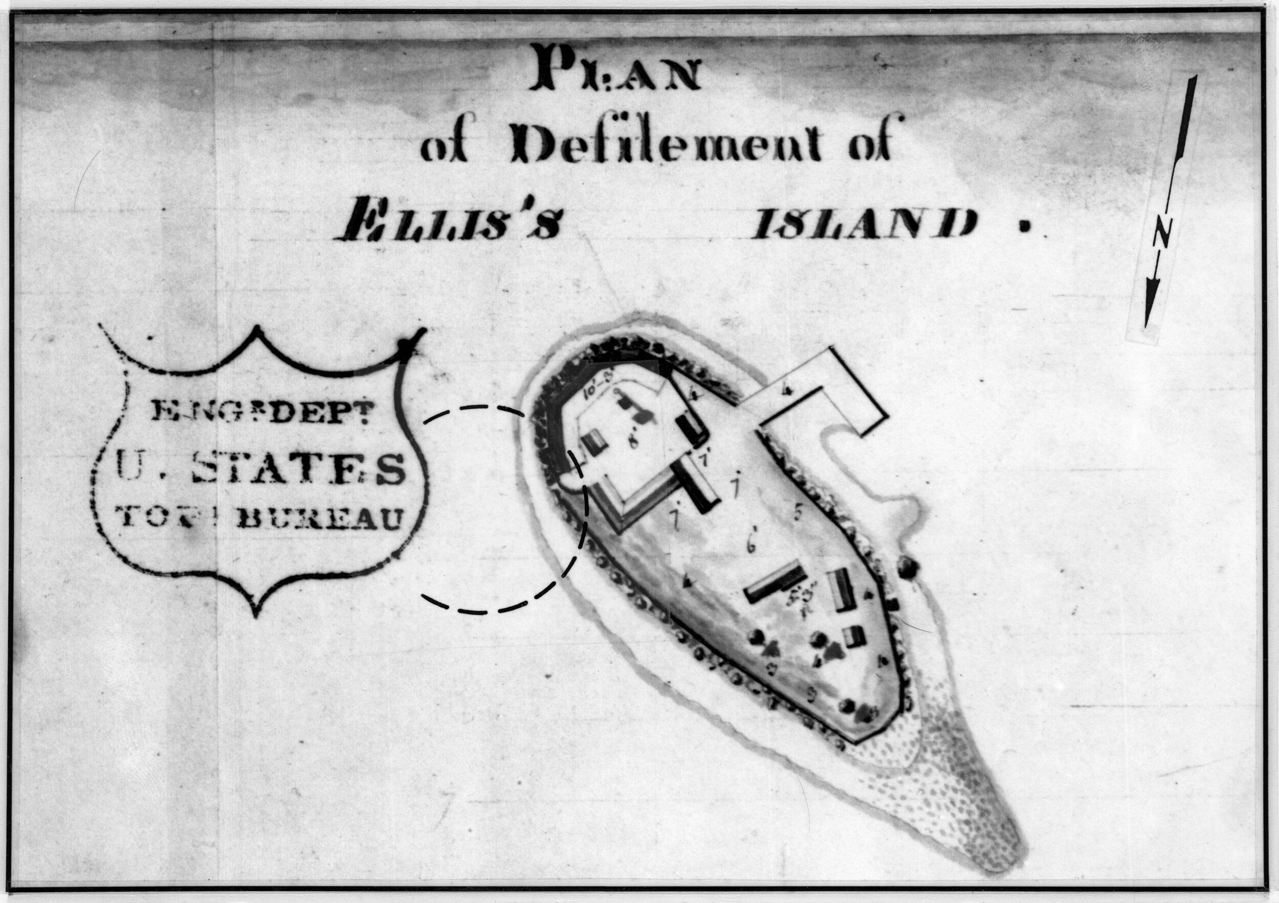 Plan of Ellis Island 1813