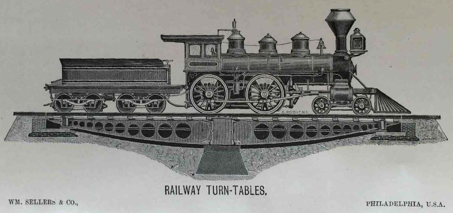 Mid-19th-century railroad turntable