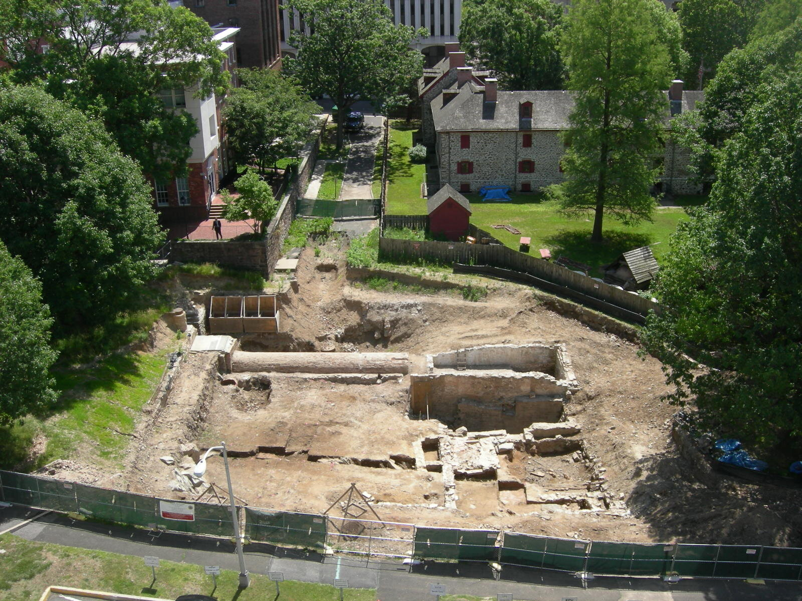Petty's Run mid-excavation 2009