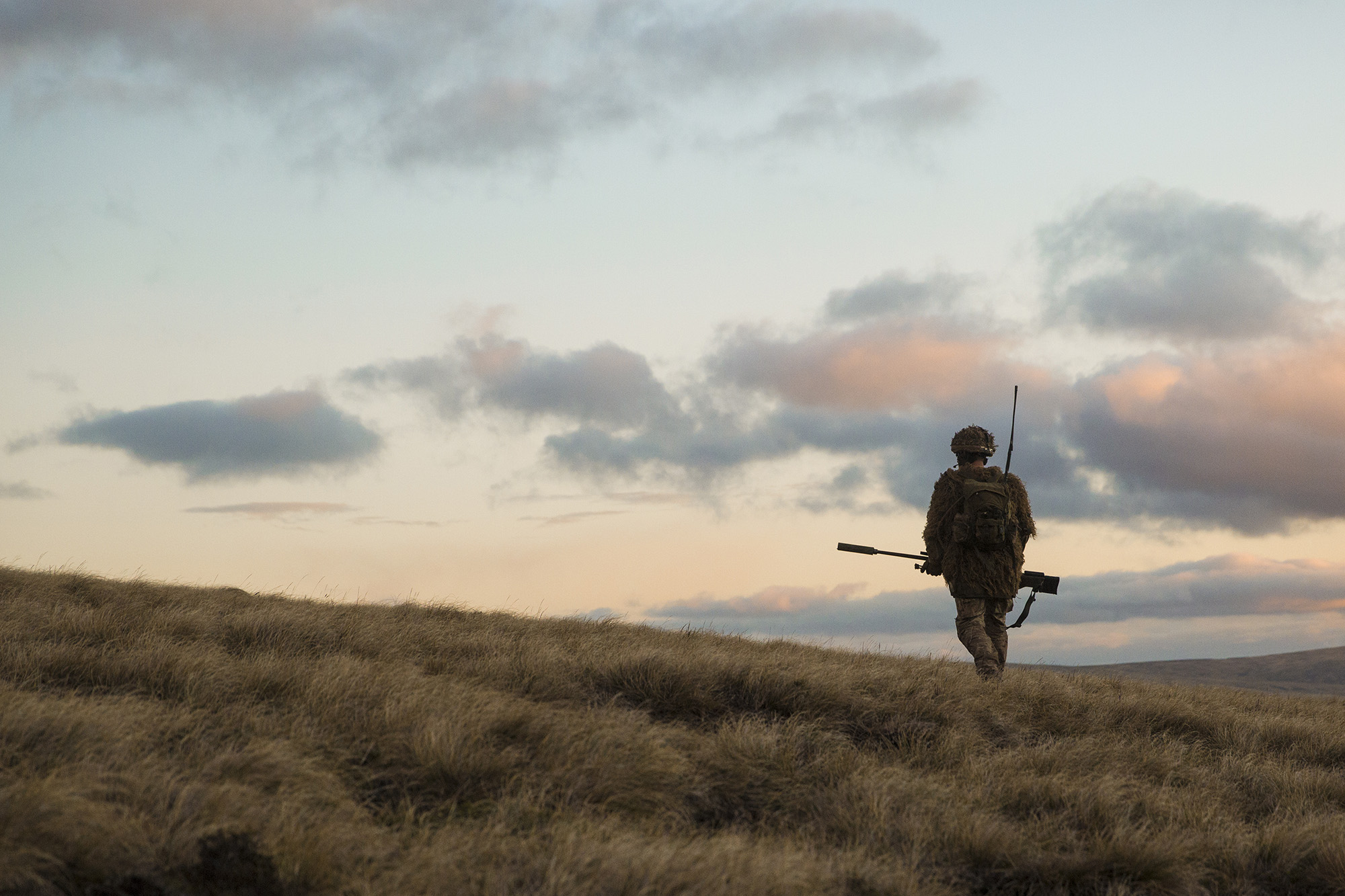 Welsh Guards pictured during a 'live fire' exercise at Onion Range in the Falkland Islands. Crown Copyright.