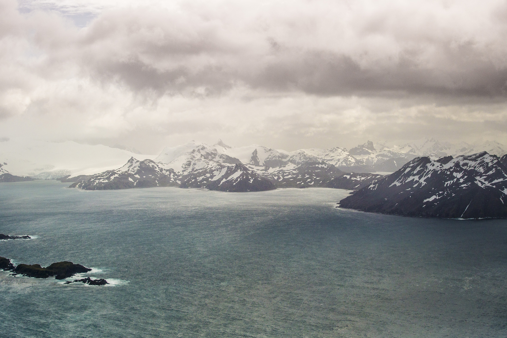 Another view of South Georgia from the 'Para' door of a C-130J Hercules. Crown Copyright.