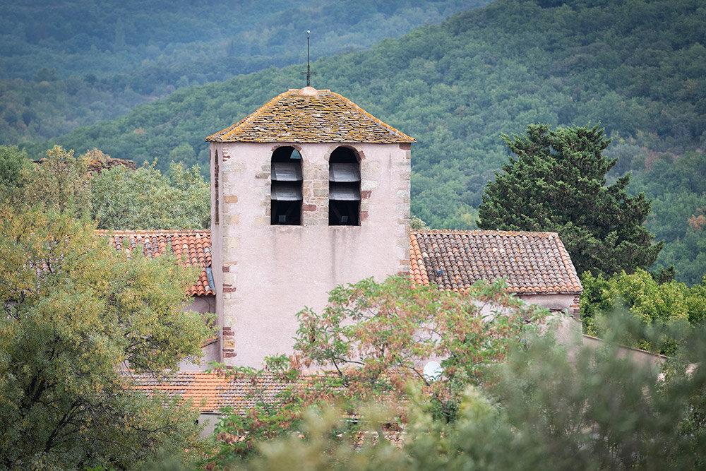 Clocher de l'église, Le Puech © Melkan Bassil - Photographie disponible sur  www.imagesoccitanie.com