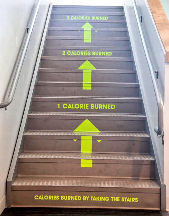 Utah Valley University adds a nudge to their stairs